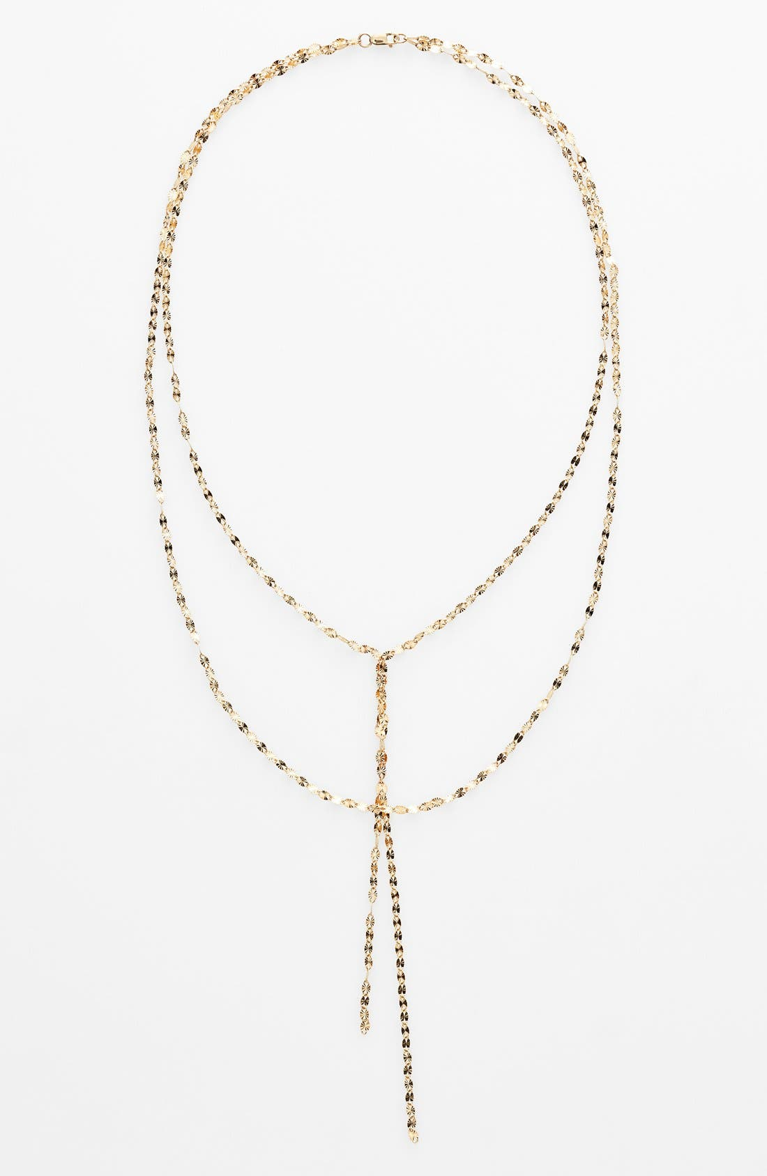 'Mega Blake' Lariat Necklace,                             Alternate thumbnail 3, color,                             YELLOW GOLD