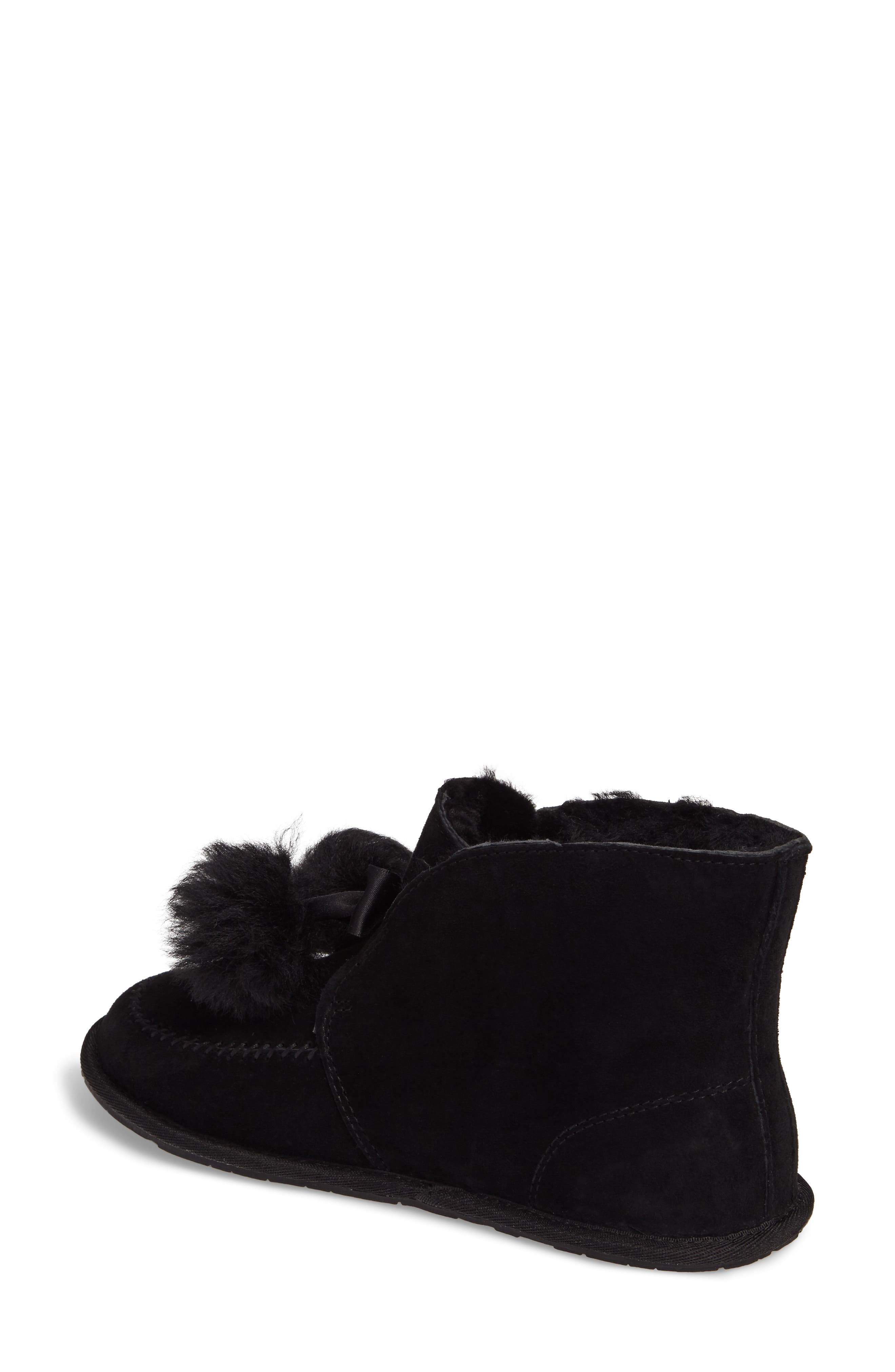 Kallen Silkee<sup>™</sup> Suede Slipper,                             Alternate thumbnail 2, color,                             001