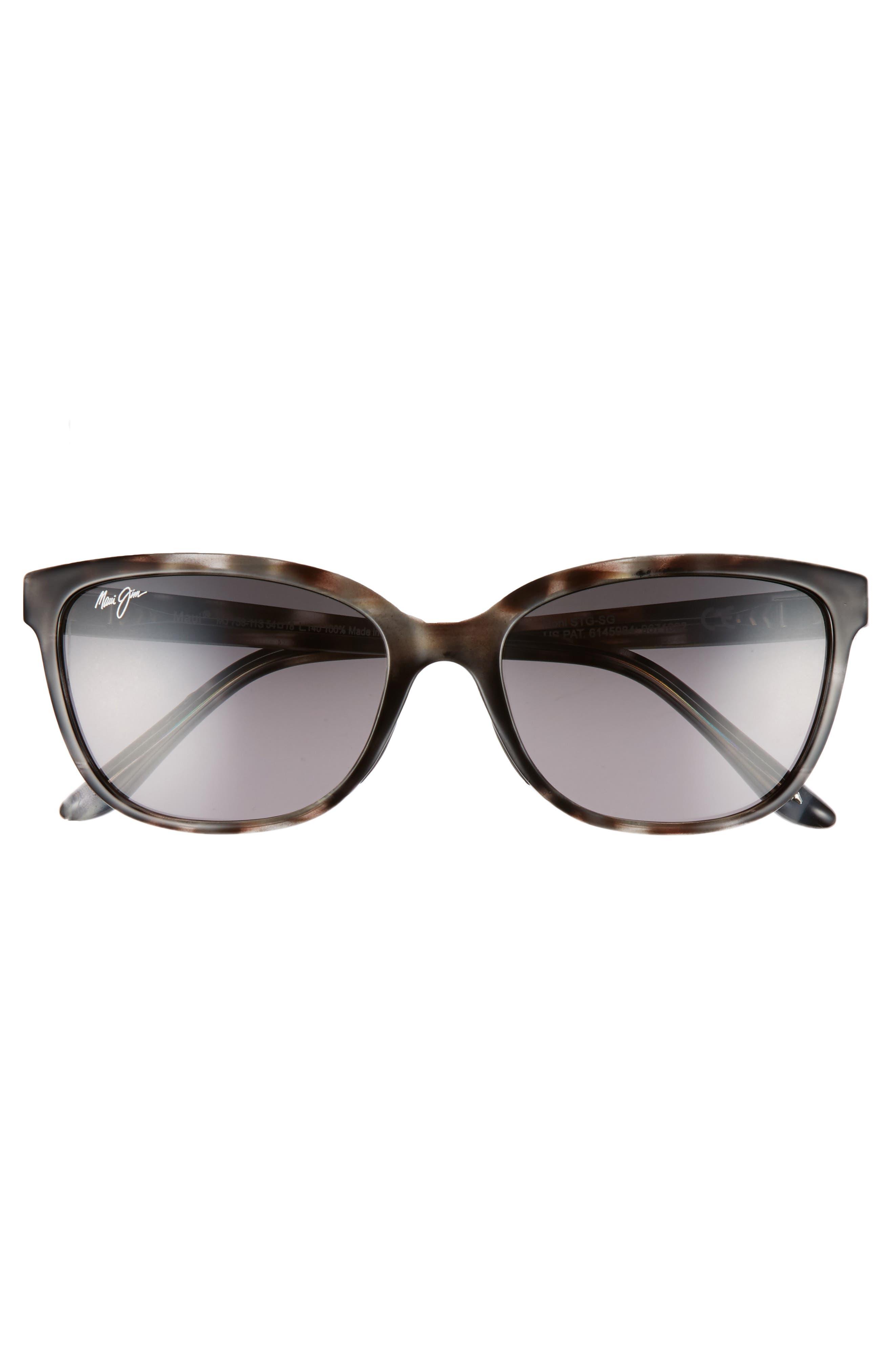 Honi 54mm Polarized Cat Eye Sunglasses,                             Alternate thumbnail 3, color,                             GREY TORTOISE STRIPE