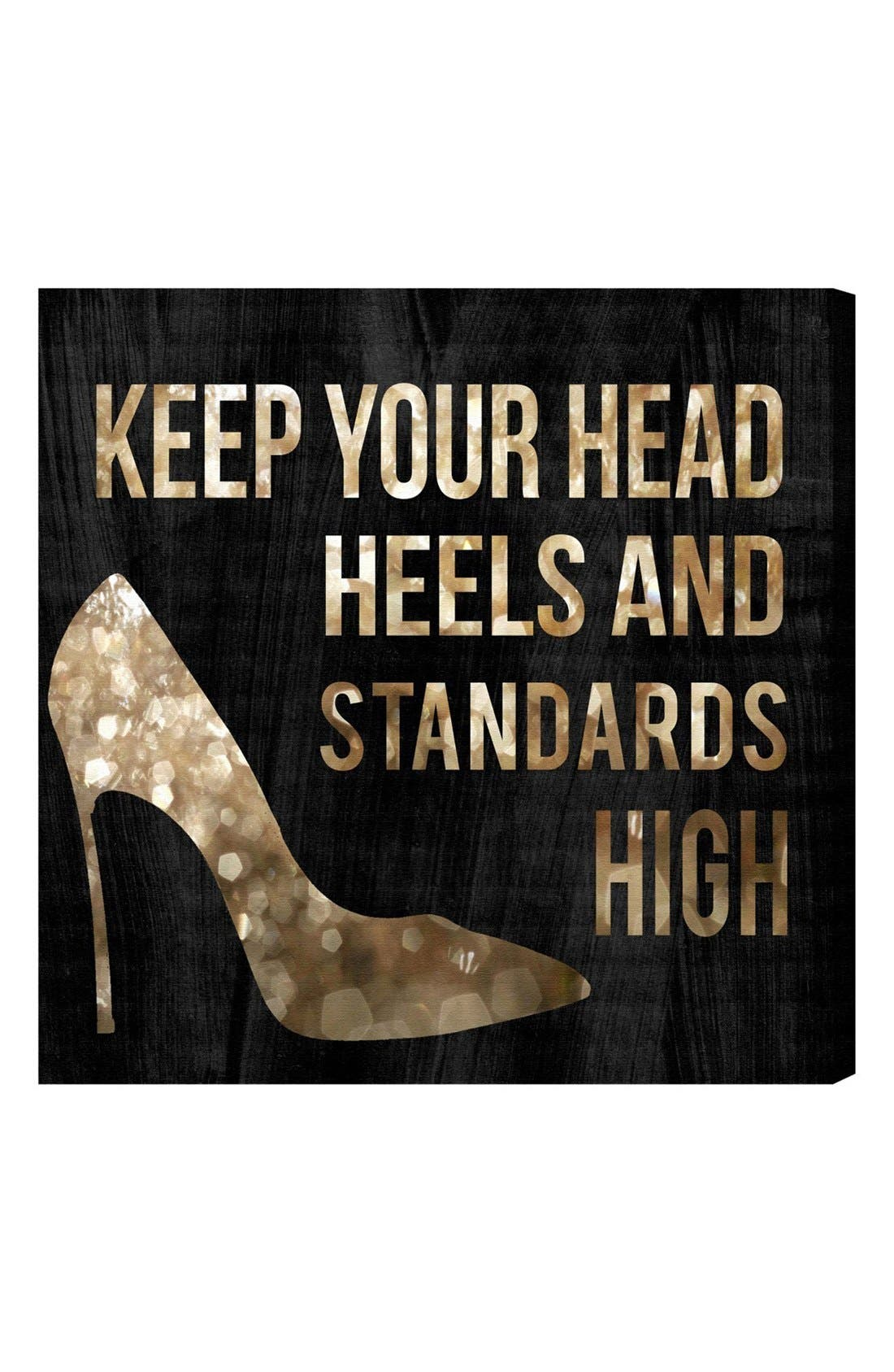 'Head & Heels' Canvas Wall Art,                             Main thumbnail 1, color,                             BLACK