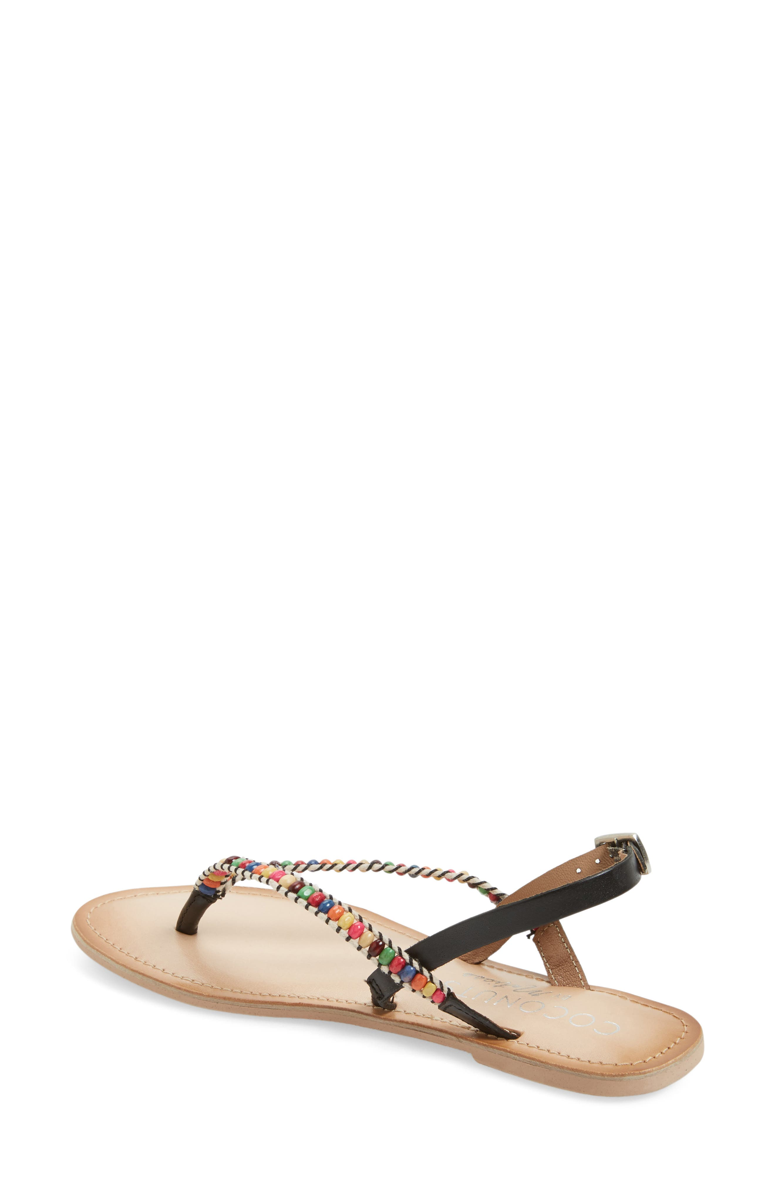 Coconuts by Matisse Celebration Beaded Sandal,                             Alternate thumbnail 2, color,                             001