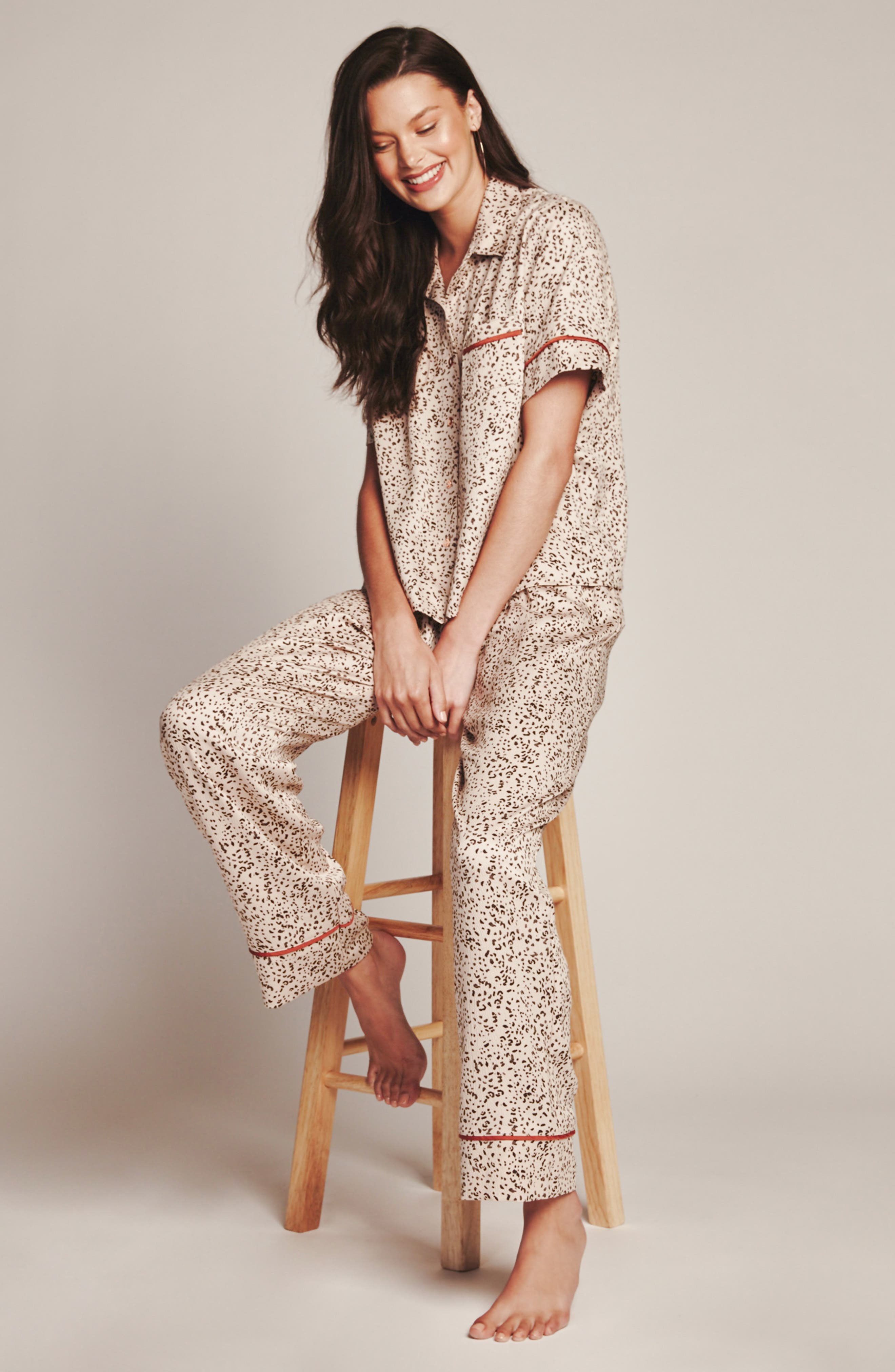 Dolce Pajamas,                             Alternate thumbnail 5, color,                             DOLCE TAUPE ANIMAL PRINT