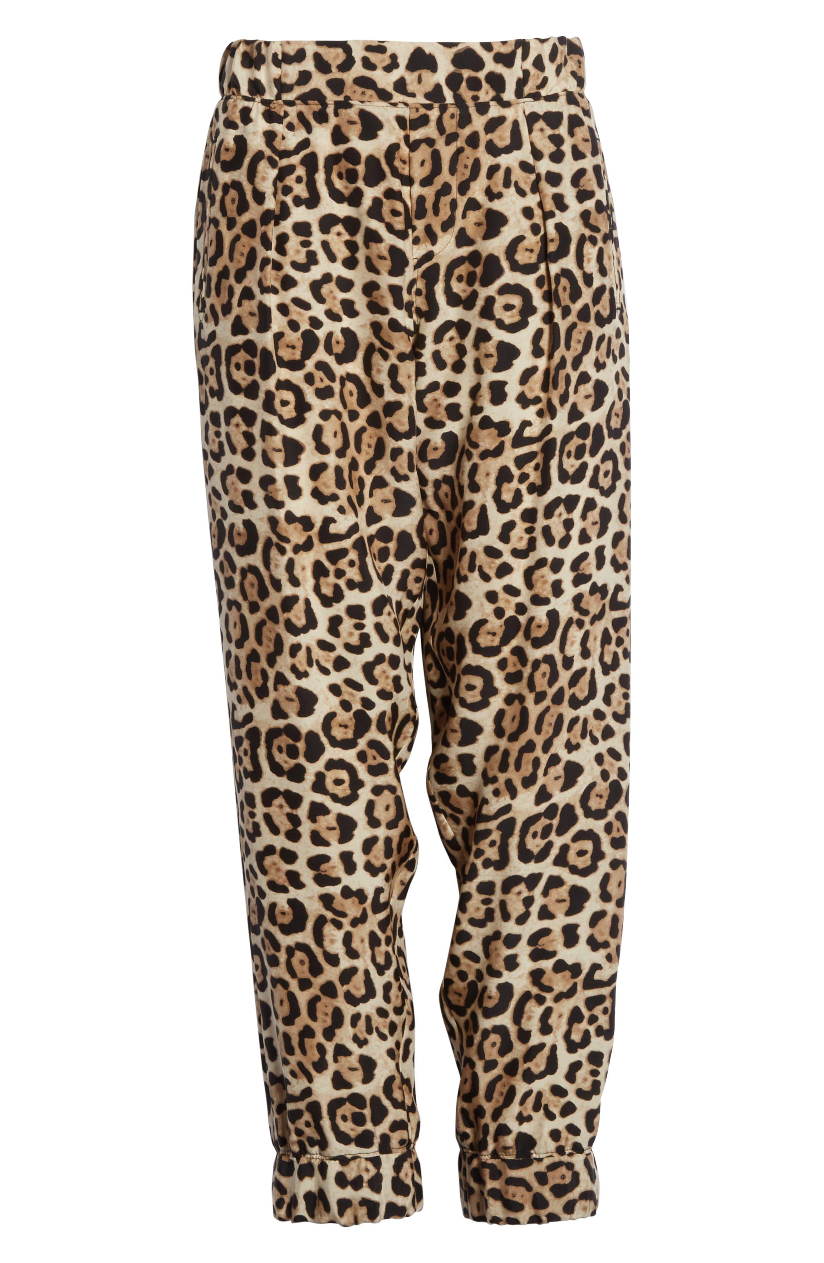ATM ANTHONY THOMAS MELILLO,                             Leopard Print Silk Pants,                             Alternate thumbnail 6, color,                             LEOPARD PRINT