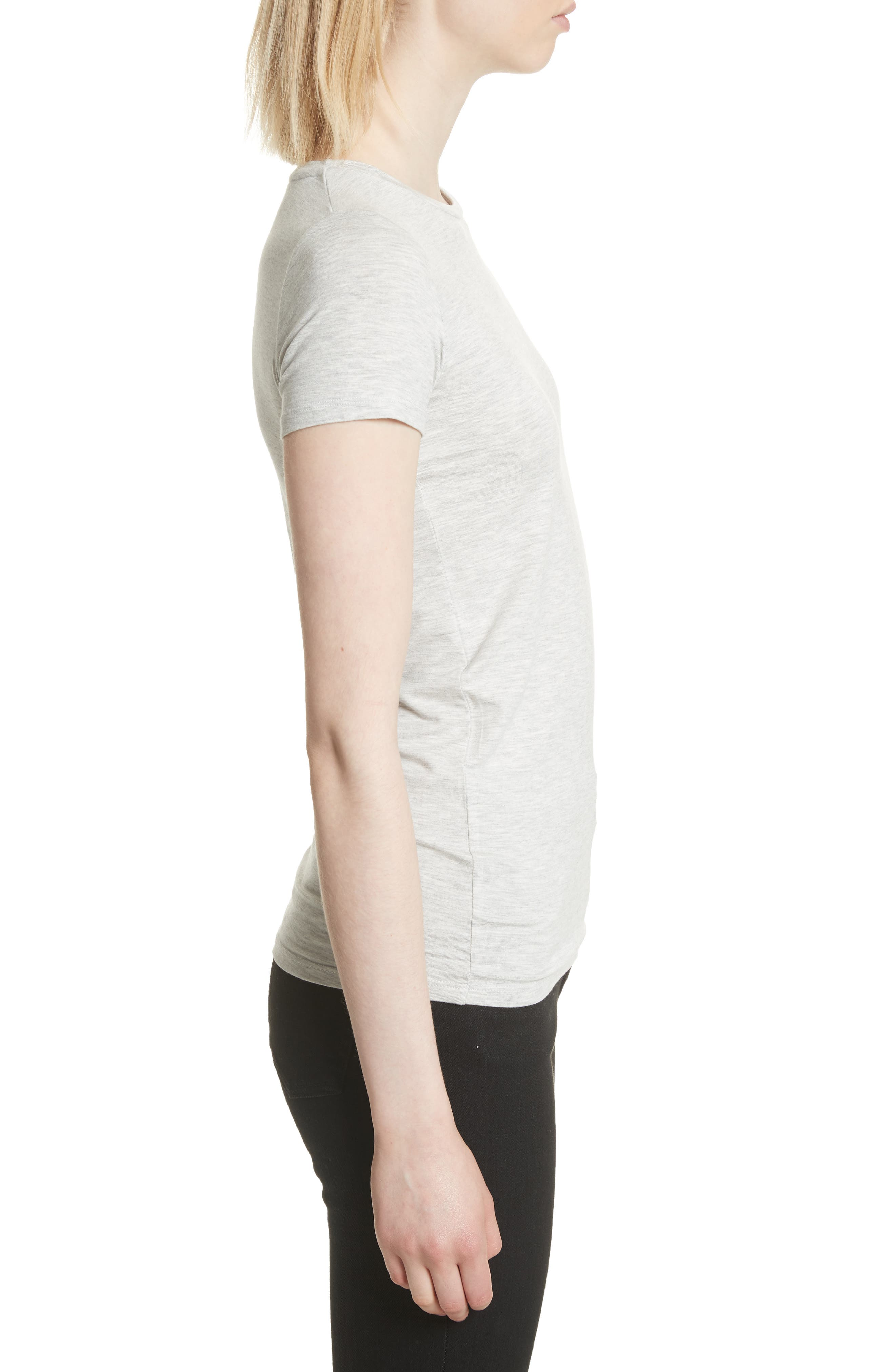 Basic Stretch Knit Top,                             Alternate thumbnail 3, color,                             NACRE CHINE