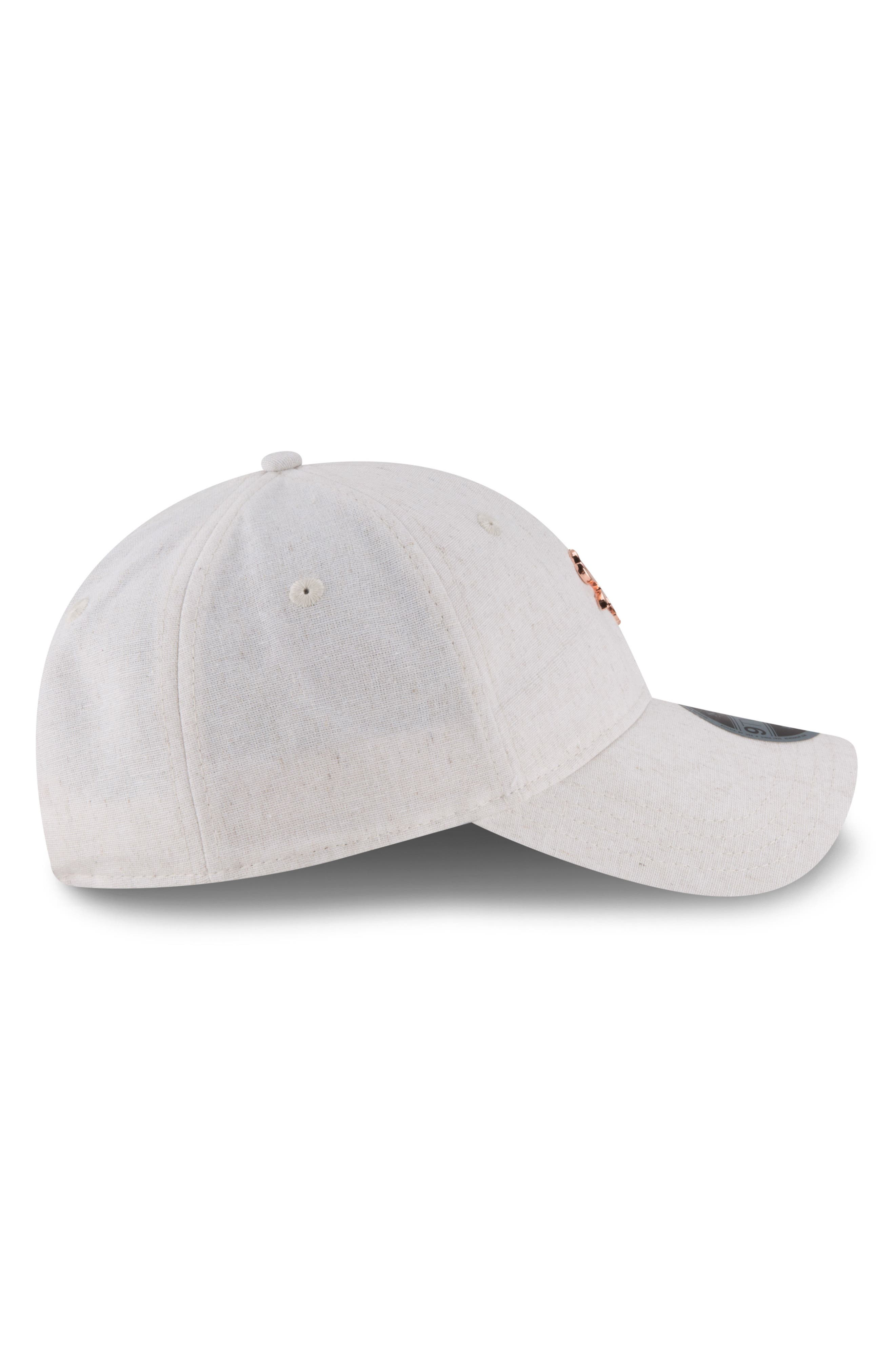 MLB Badged Black Label Linen & Cotton Ball Cap,                             Alternate thumbnail 3, color,                             CHICAGO WHITE SOX