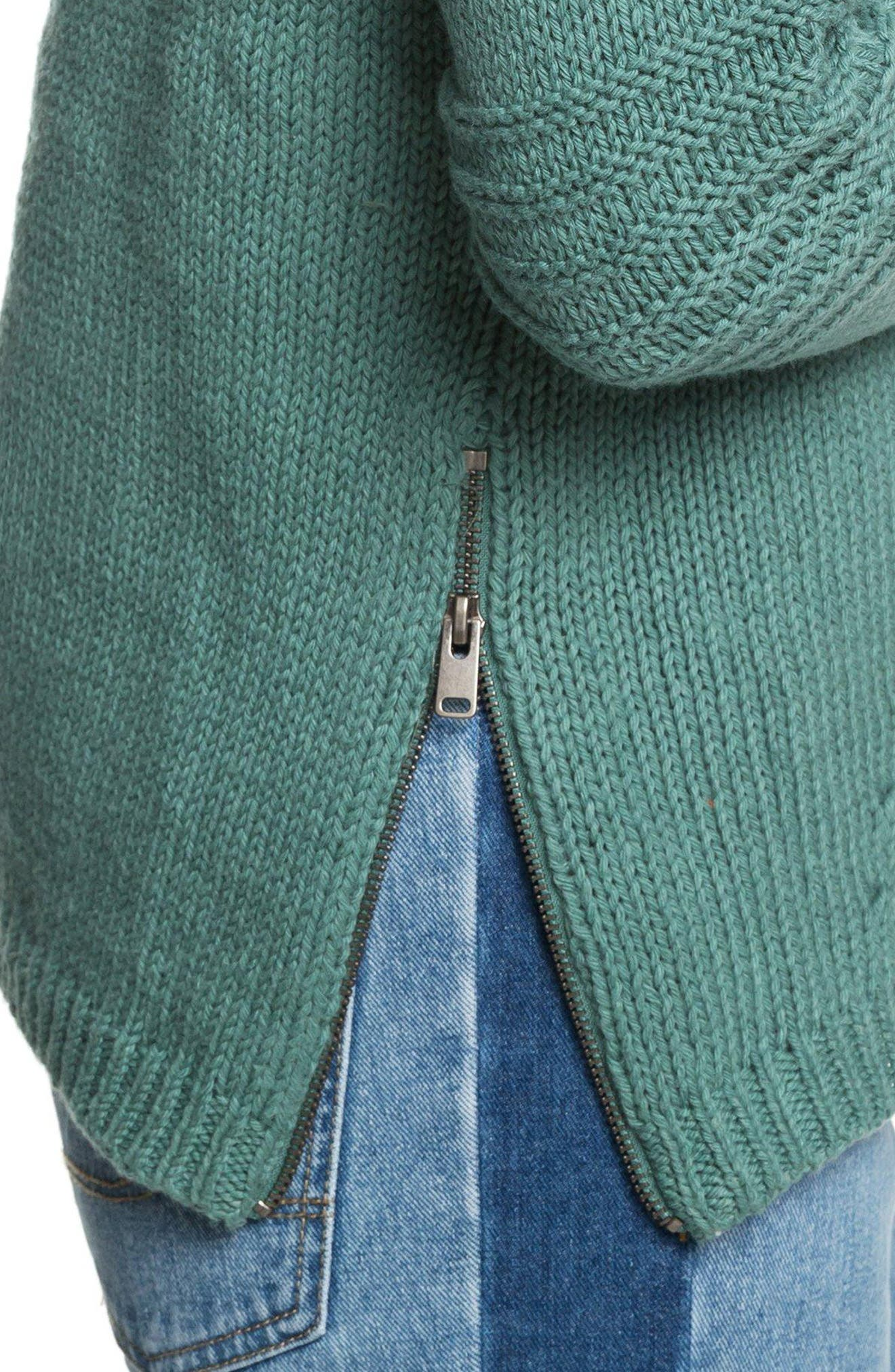 Glimpse of Romance Cable Knit Sweater,                             Alternate thumbnail 4, color,                             300