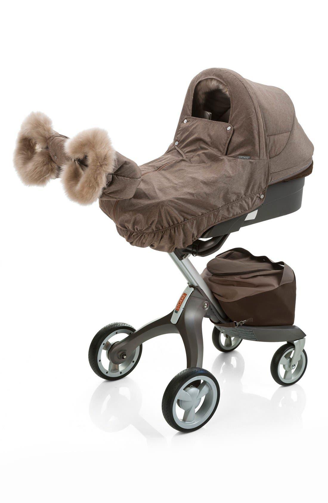 Stroller Winter Kit,                         Main,                         color, NOUGAT MELANGE