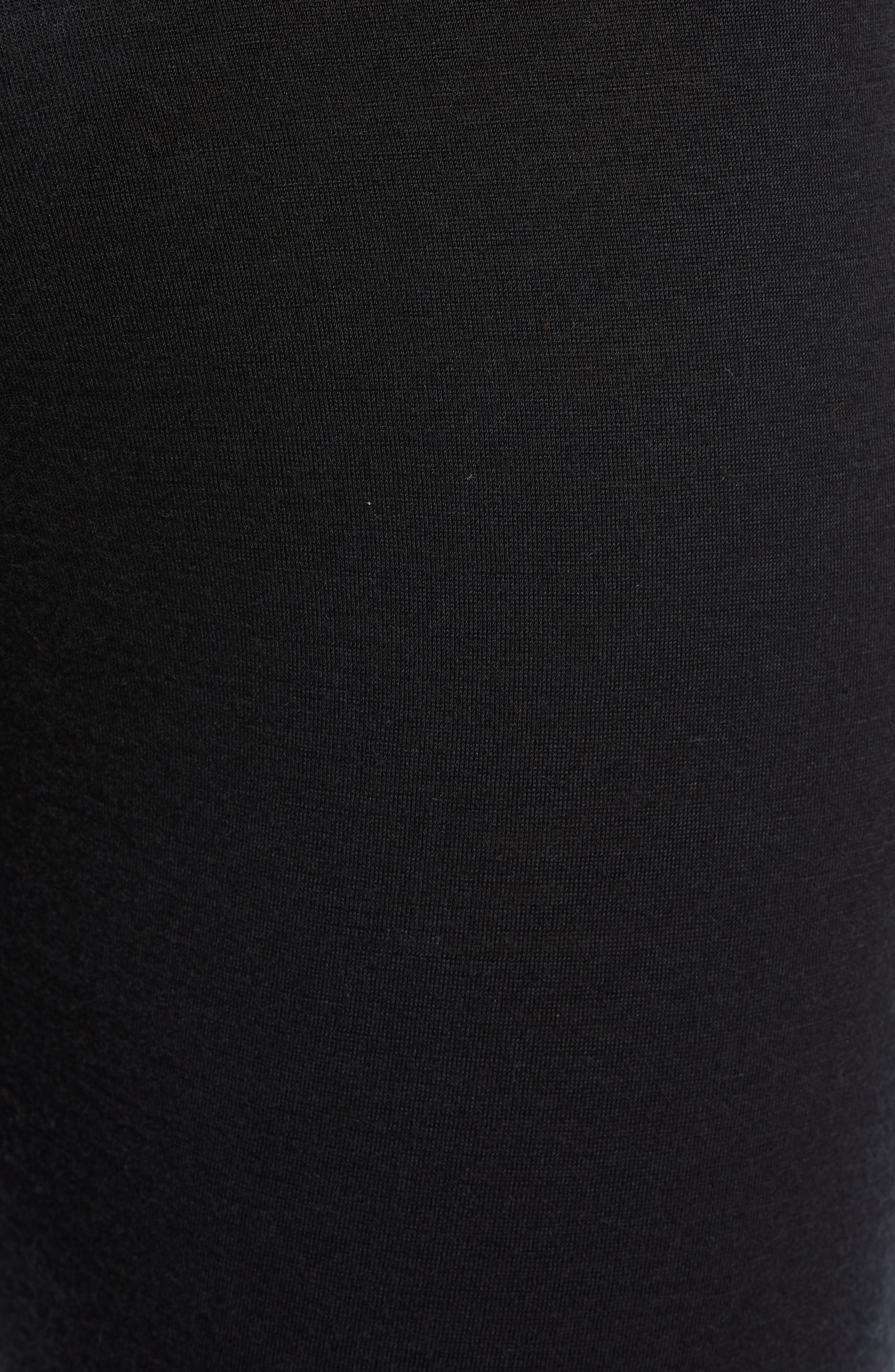 Oasis Slim Merino Wool Jersey Base Layer Leggings,                             Alternate thumbnail 5, color,                             BLACK