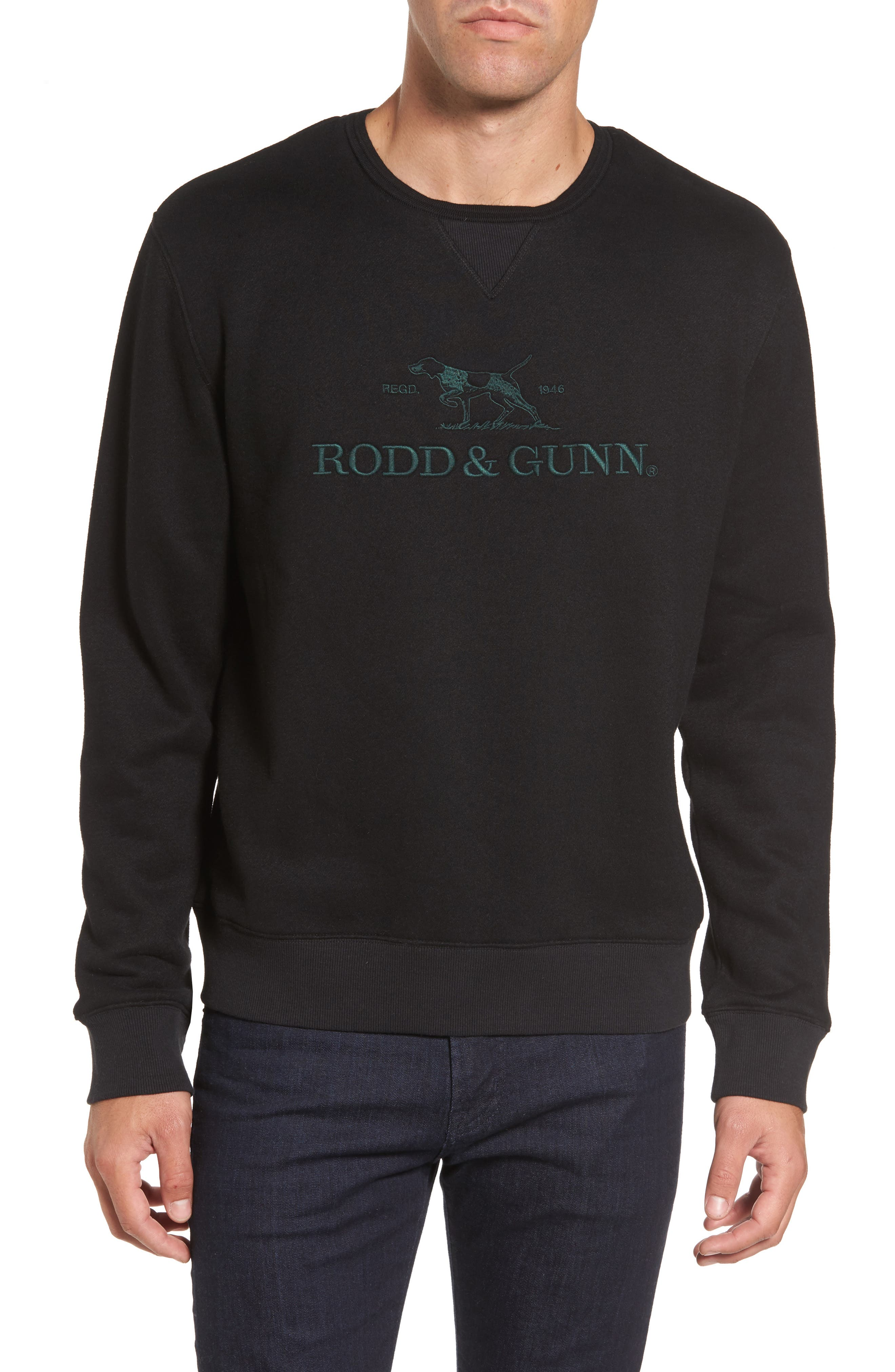 Auckland Logo Embroidered Sweatshirt,                             Main thumbnail 1, color,                             001