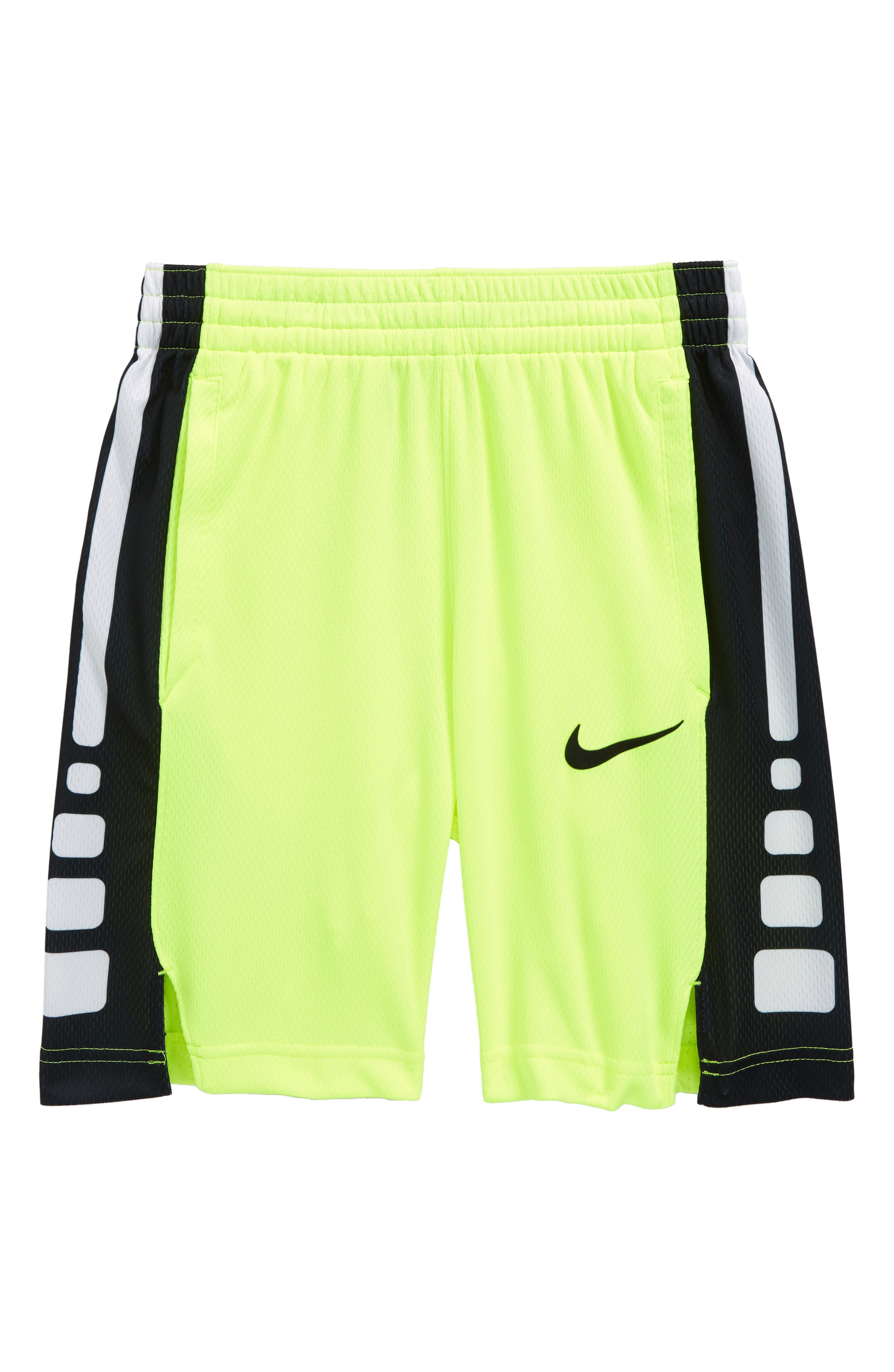 Dry Elite Basketball Shorts,                         Main,                         color, VOLT/VOLT/BLACK