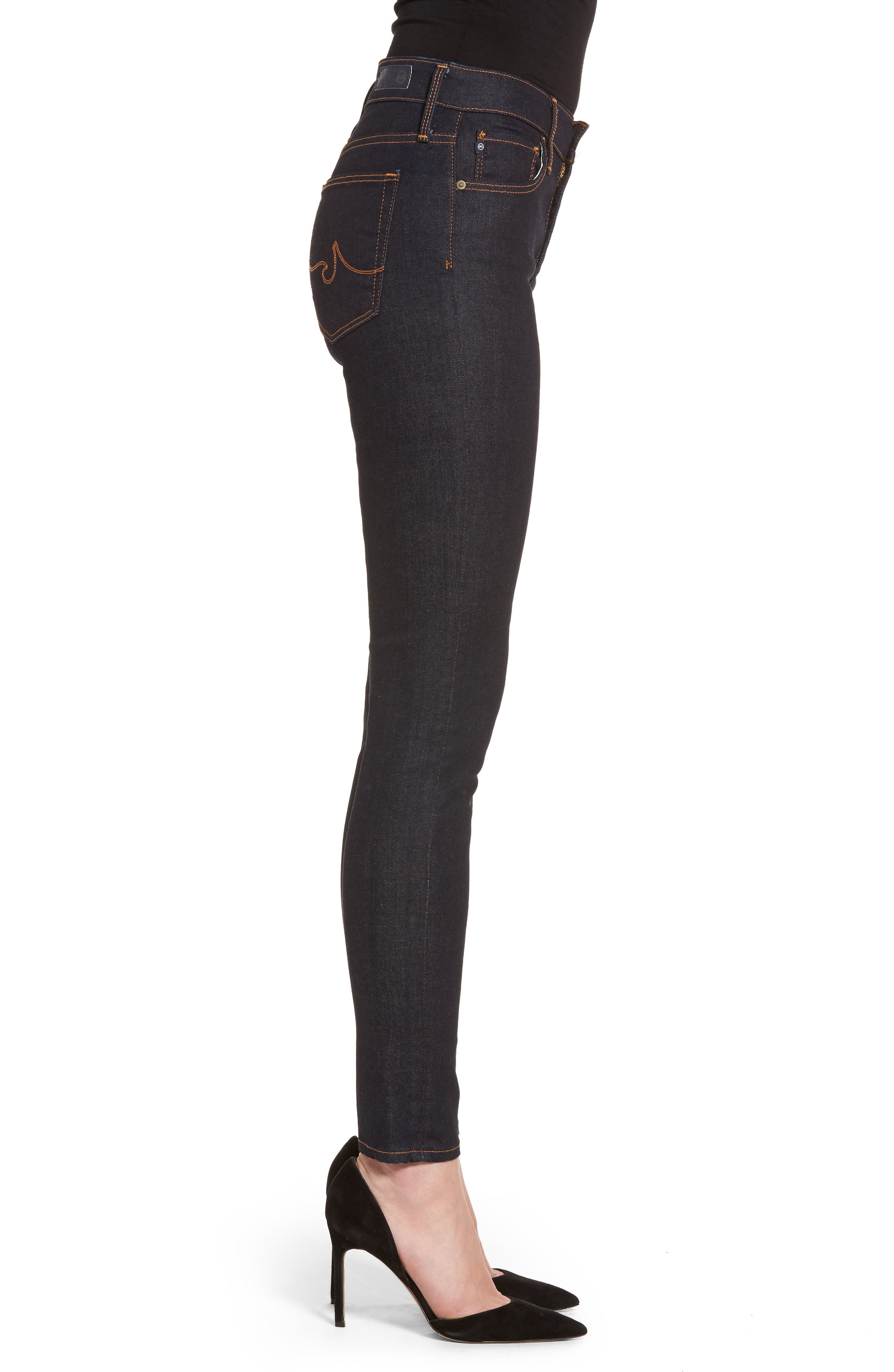 The Farrah Ankle Skinny Jeans,                             Alternate thumbnail 3, color,                             INDIGO SPRING