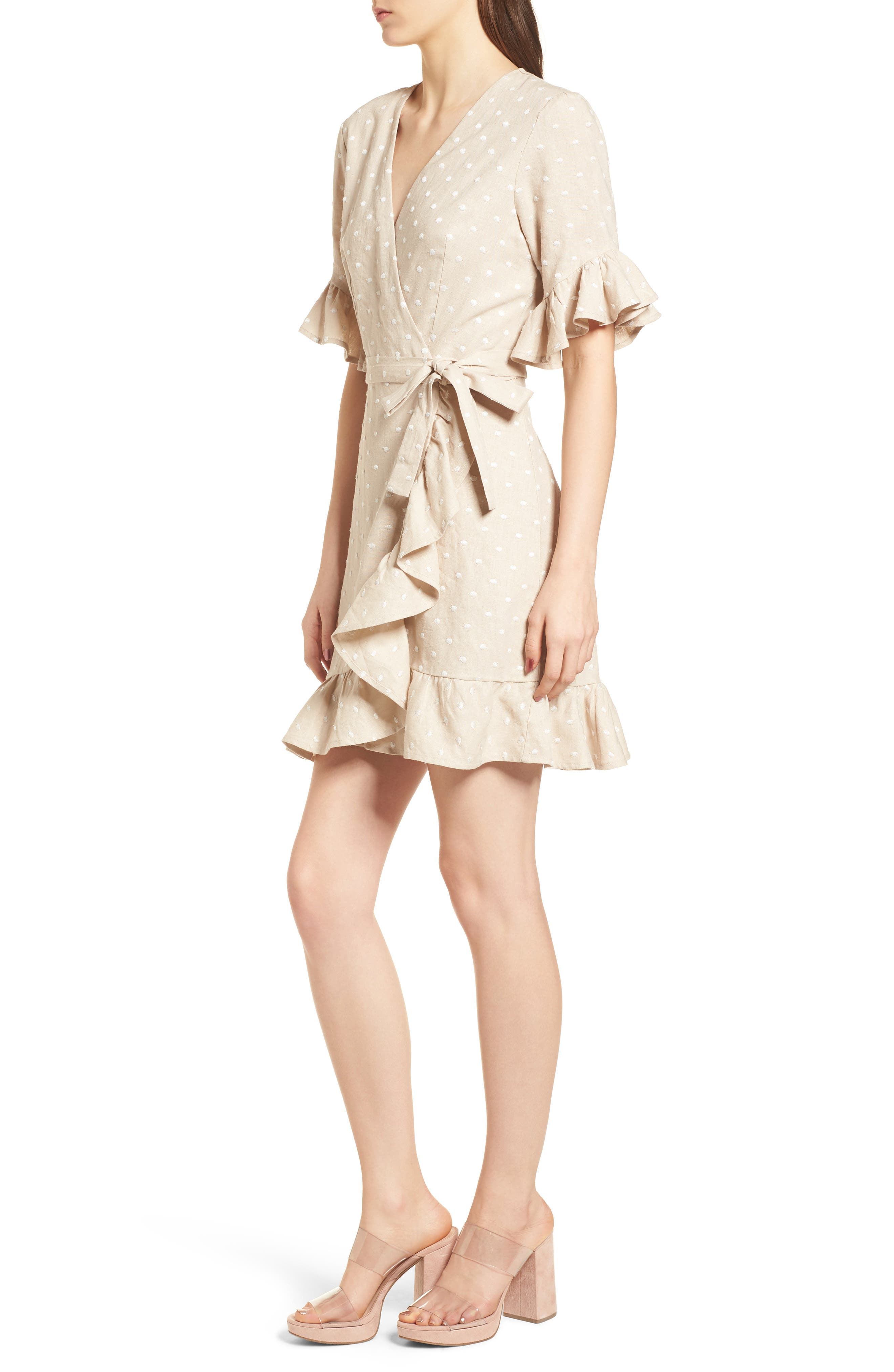 Ruffle Wrap Dress,                             Alternate thumbnail 12, color,