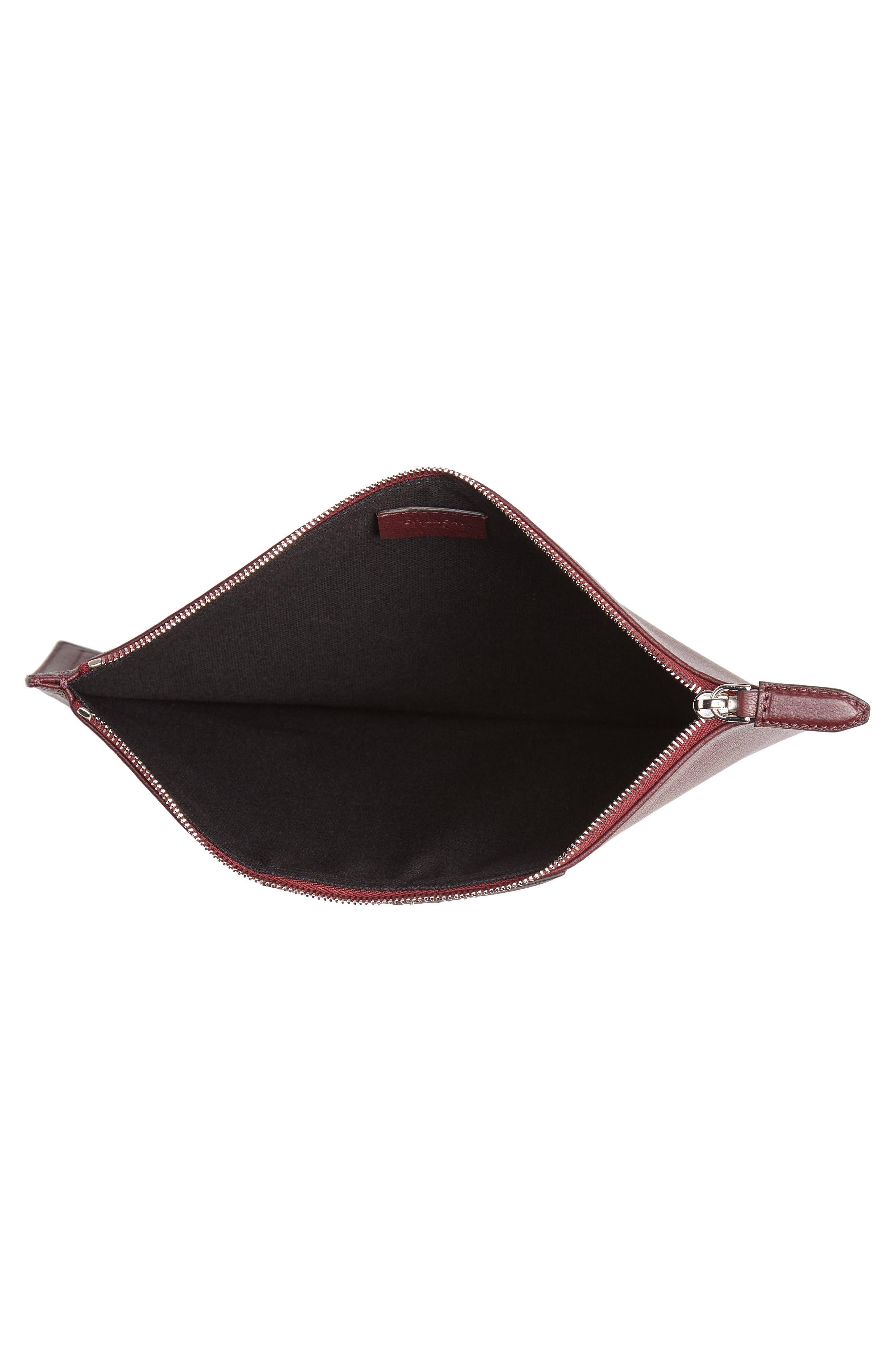 Medium Antigona Leather Pouch,                             Alternate thumbnail 4, color,                             AUBERGINE