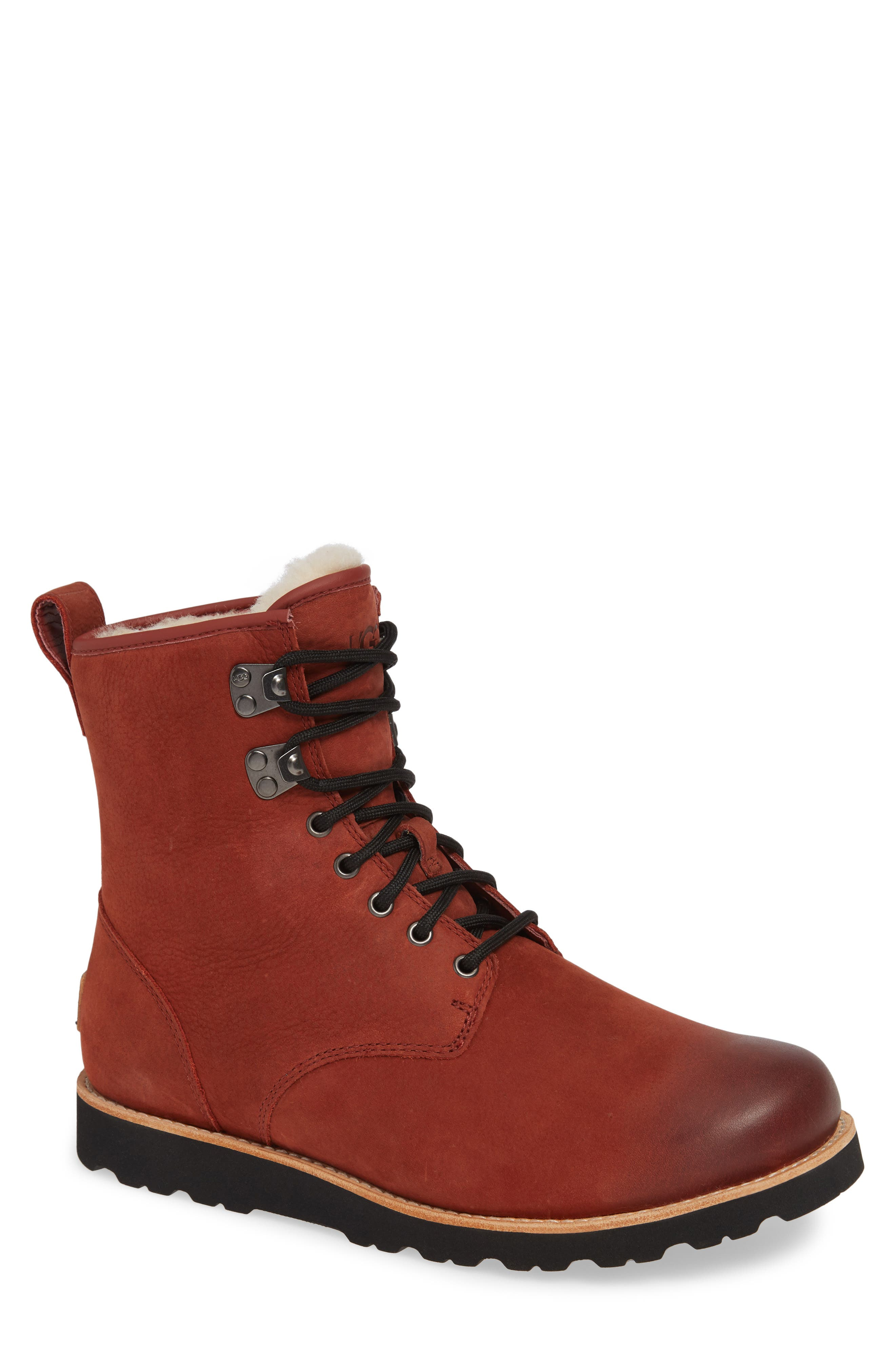Hannen Waterproof Boot,                             Main thumbnail 1, color,                             RED OXIDE