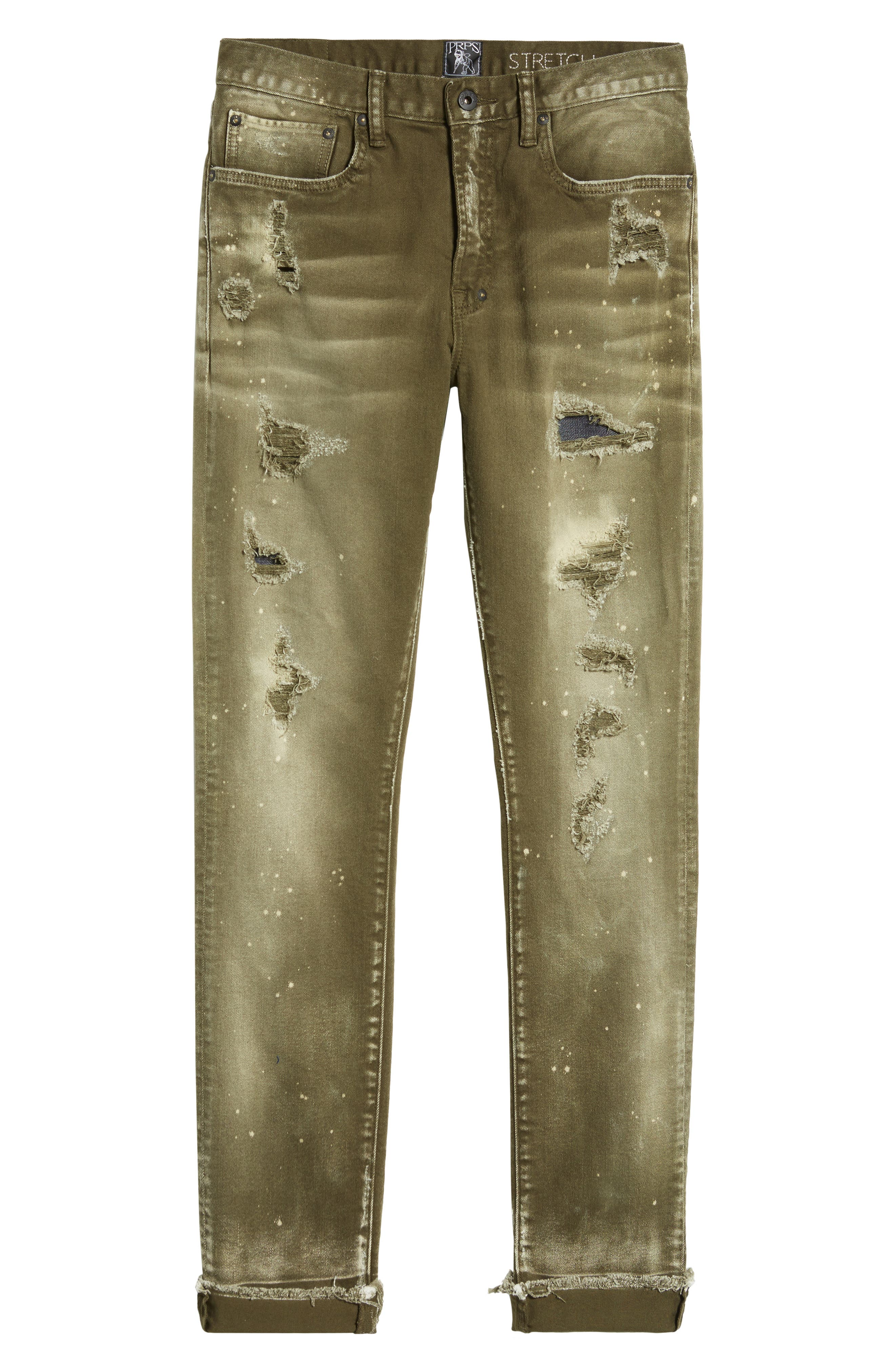 Demon Slim Straight Leg Jeans,                             Alternate thumbnail 6, color,                             454