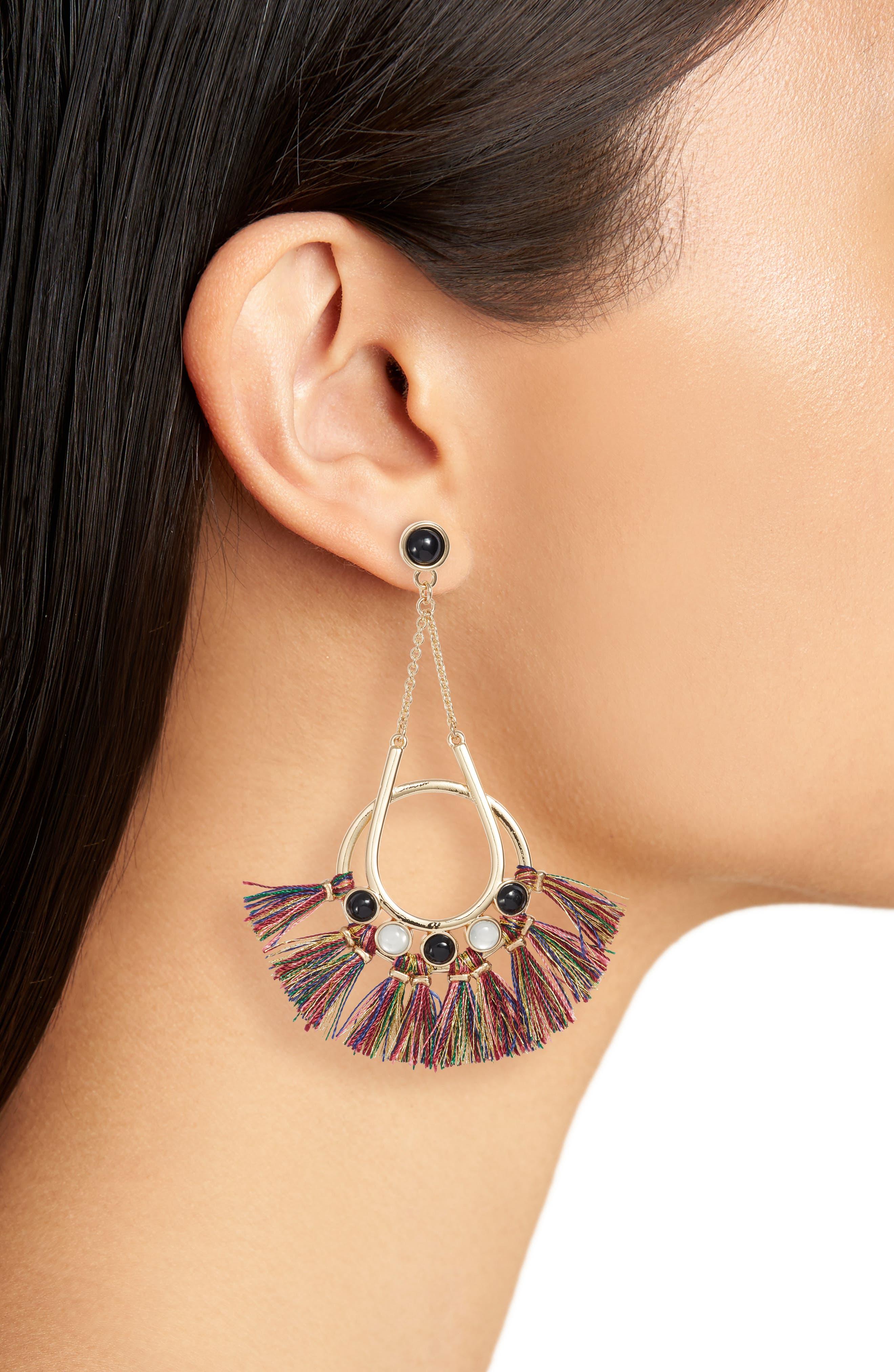 Utopia Tassel Chandelier Earrings,                             Alternate thumbnail 6, color,