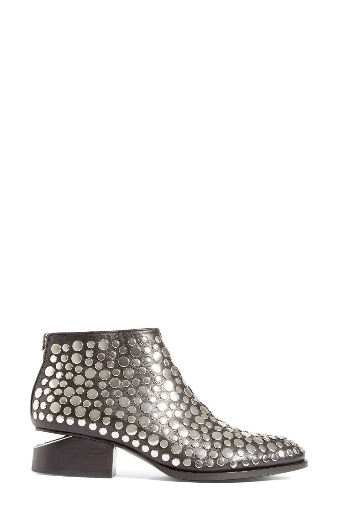 'Kori' Studded Bootie,                             Alternate thumbnail 4, color,                             001