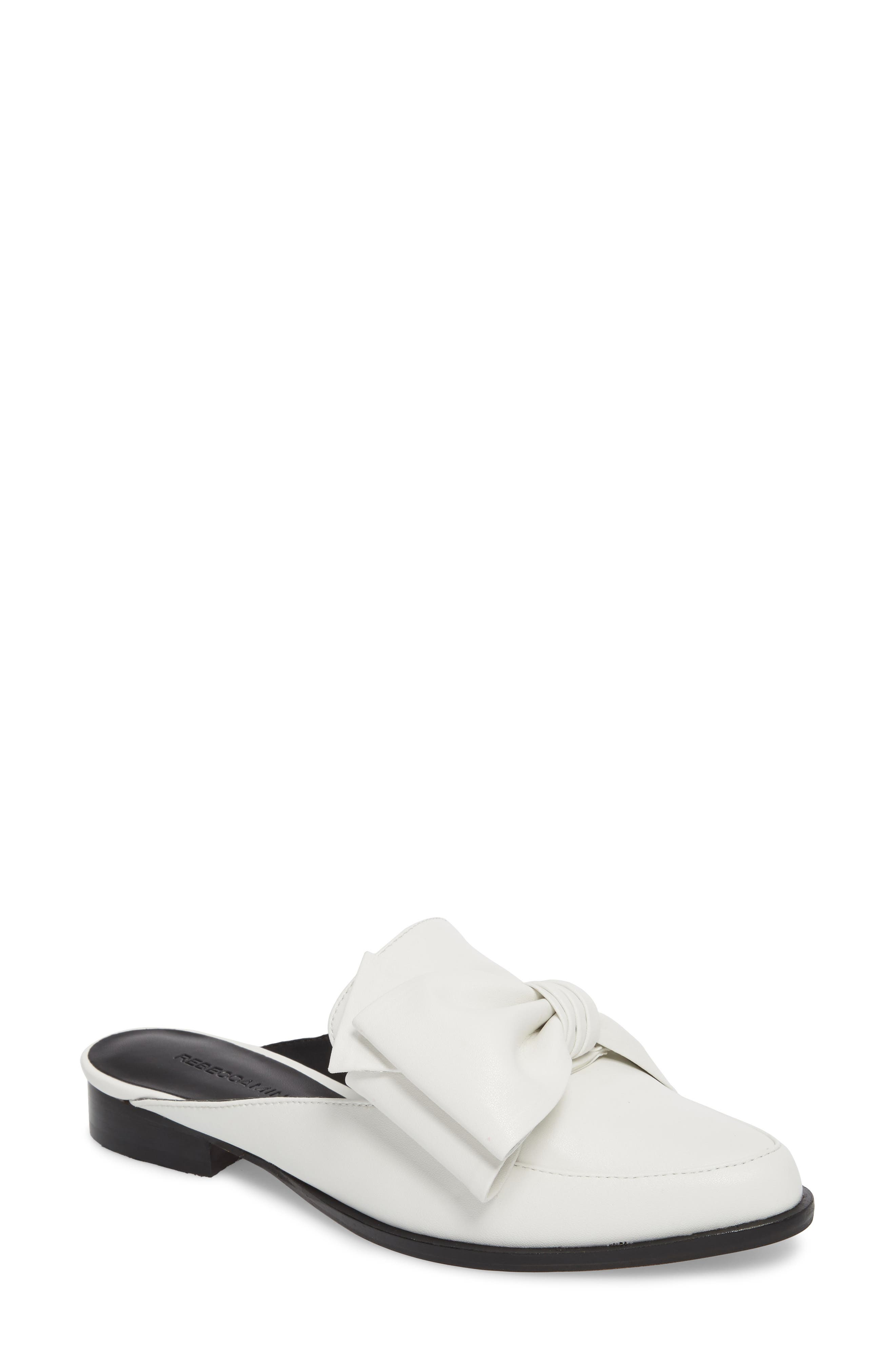 Mabel Loafer Mule,                             Main thumbnail 1, color,                             OPTIC WHITE LEATHER