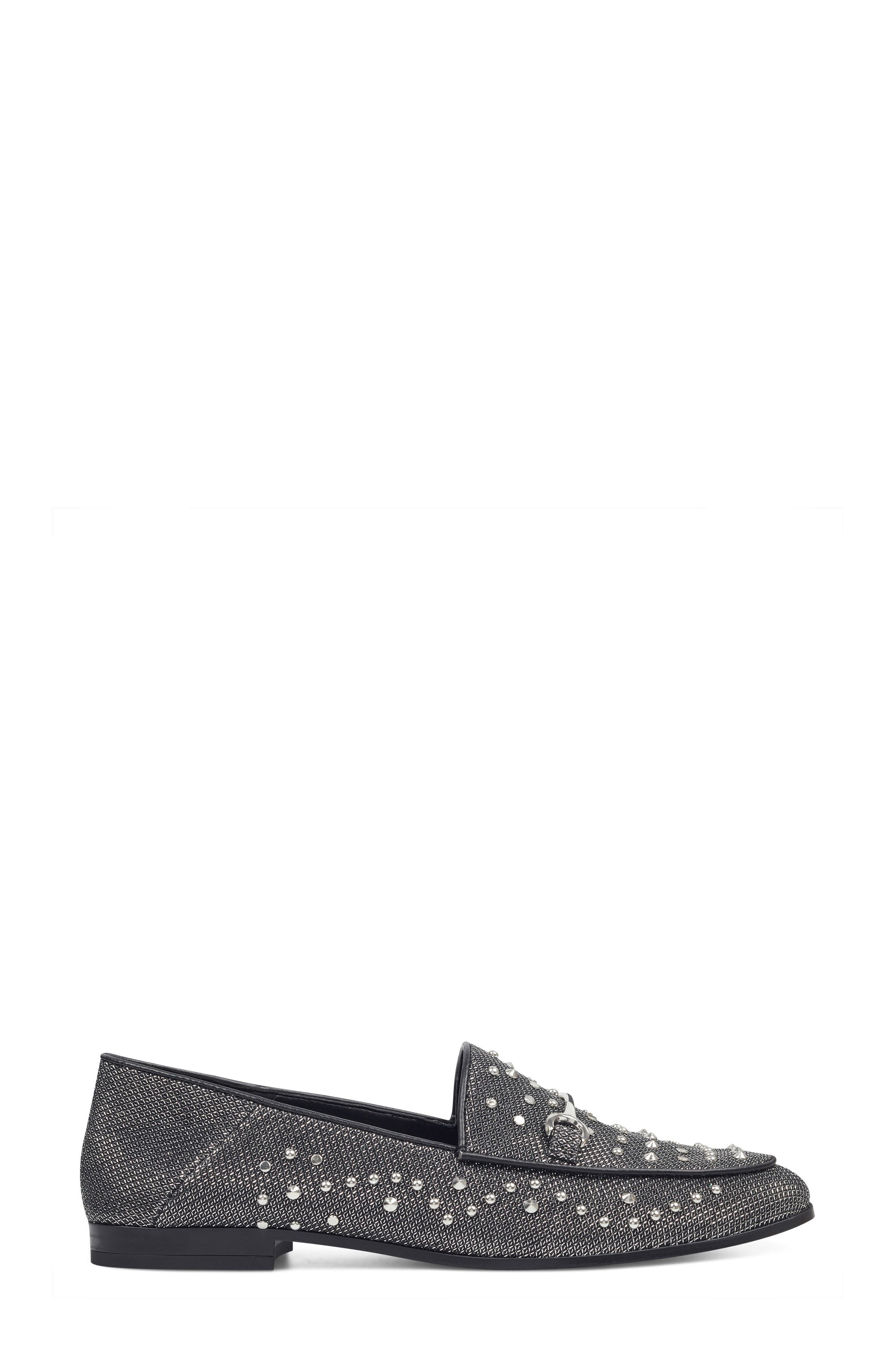Westoy Studded Loafer,                             Alternate thumbnail 3, color,                             001