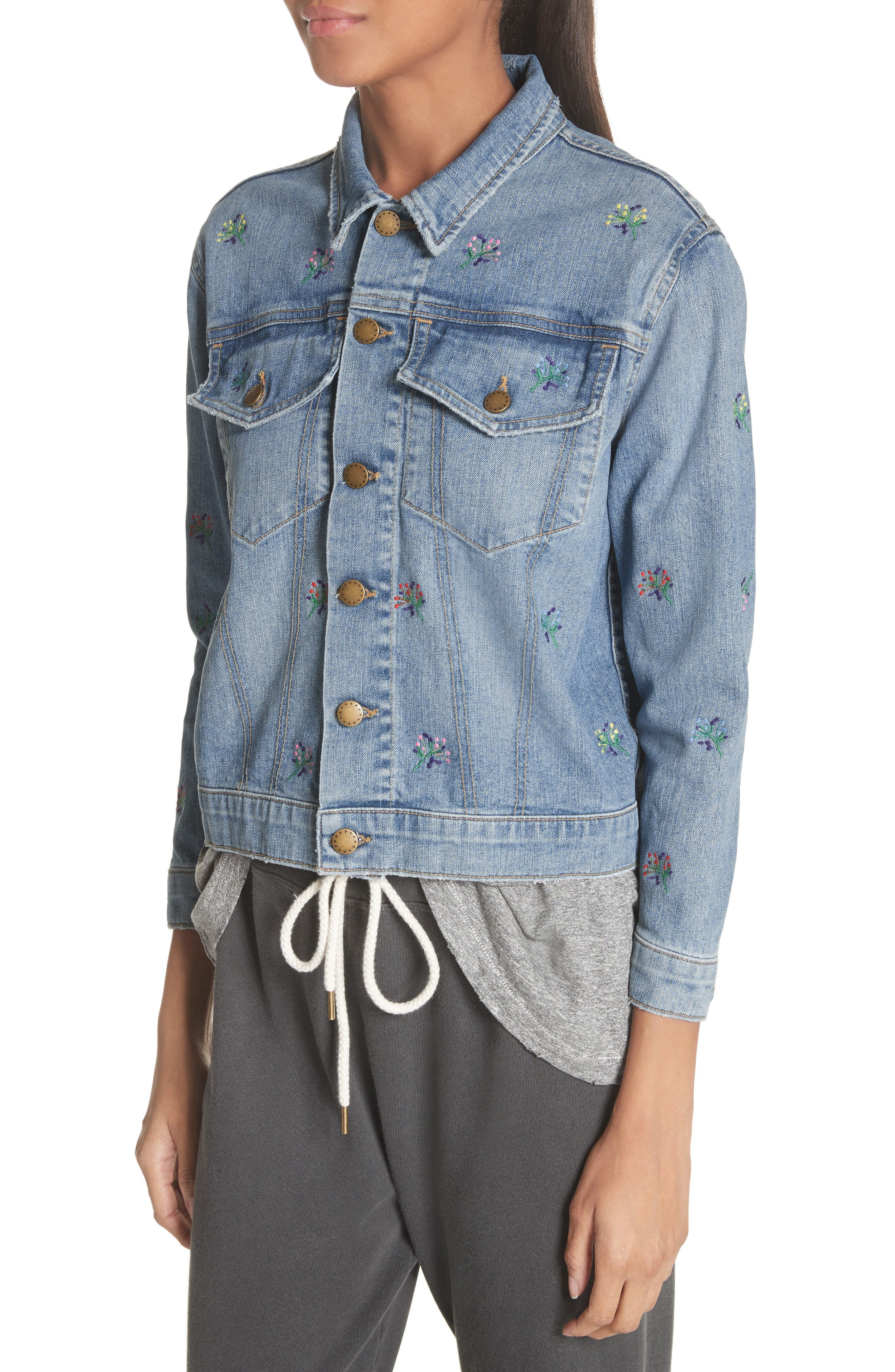 The Boxy Jean Jacket,                             Alternate thumbnail 4, color,                             400