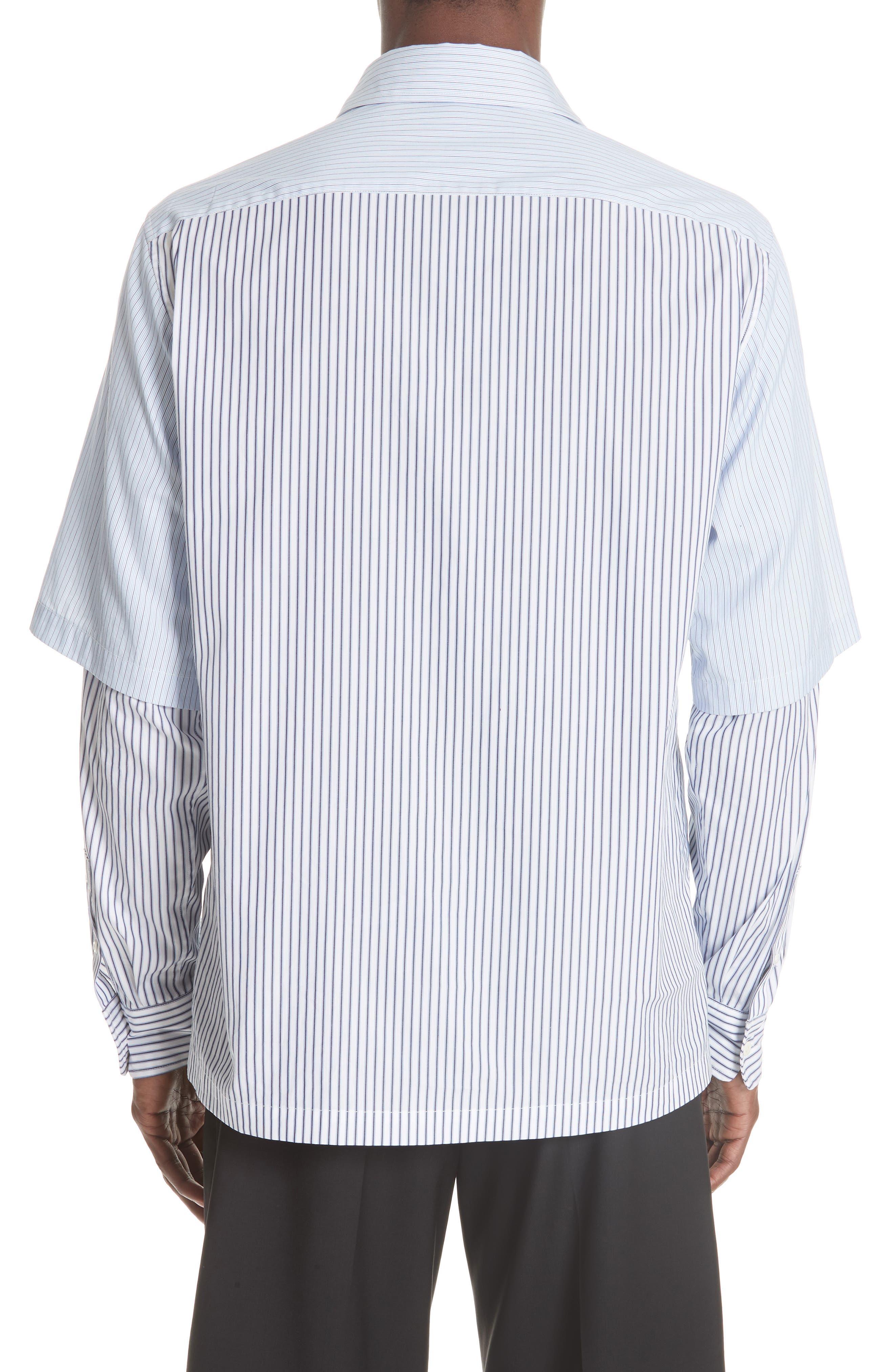 Double Layer Woven Shirt,                             Alternate thumbnail 3, color,                             WHITE