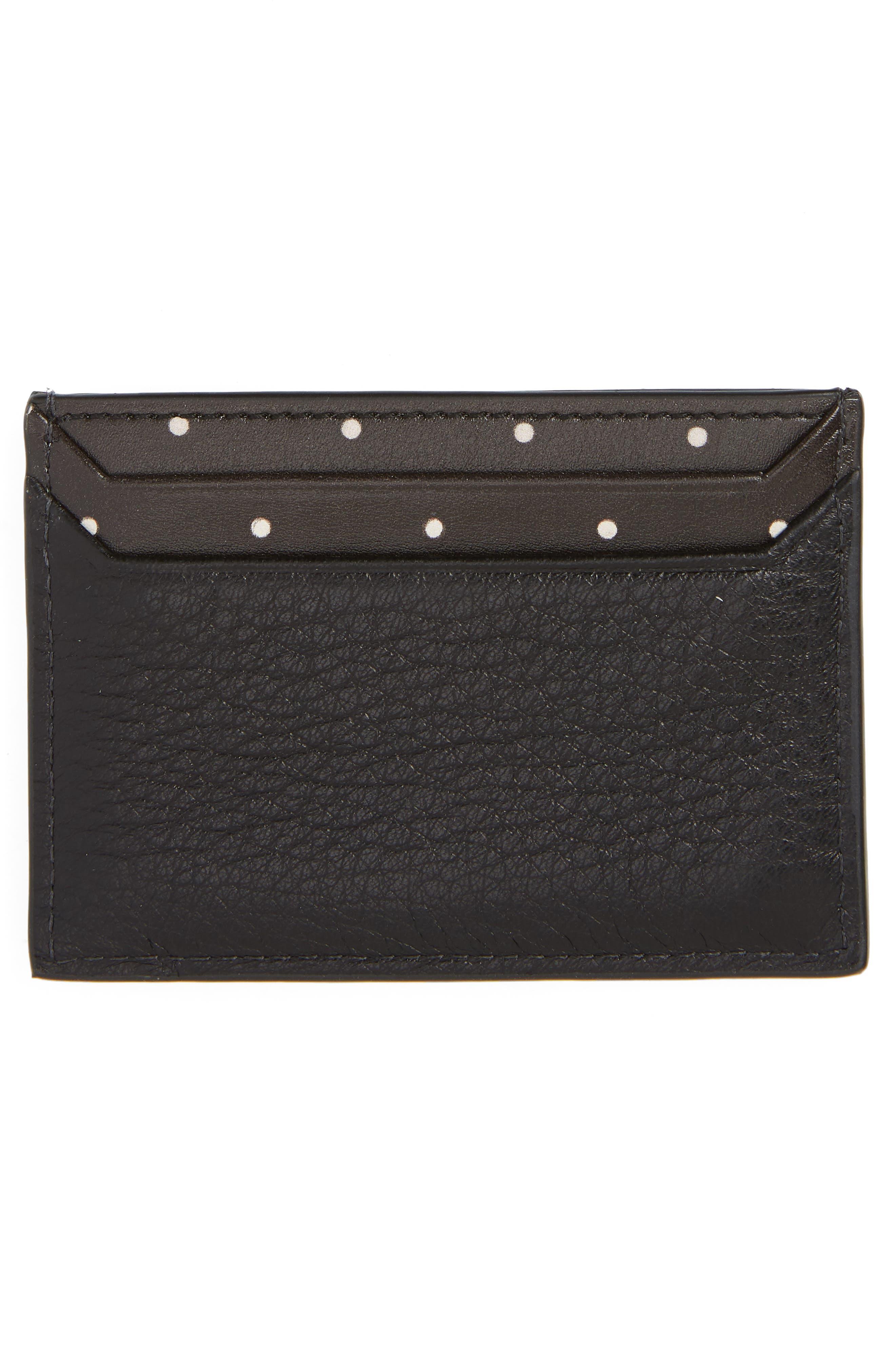 blake street - dot lynleigh leather card case,                             Alternate thumbnail 2, color,                             BLACK