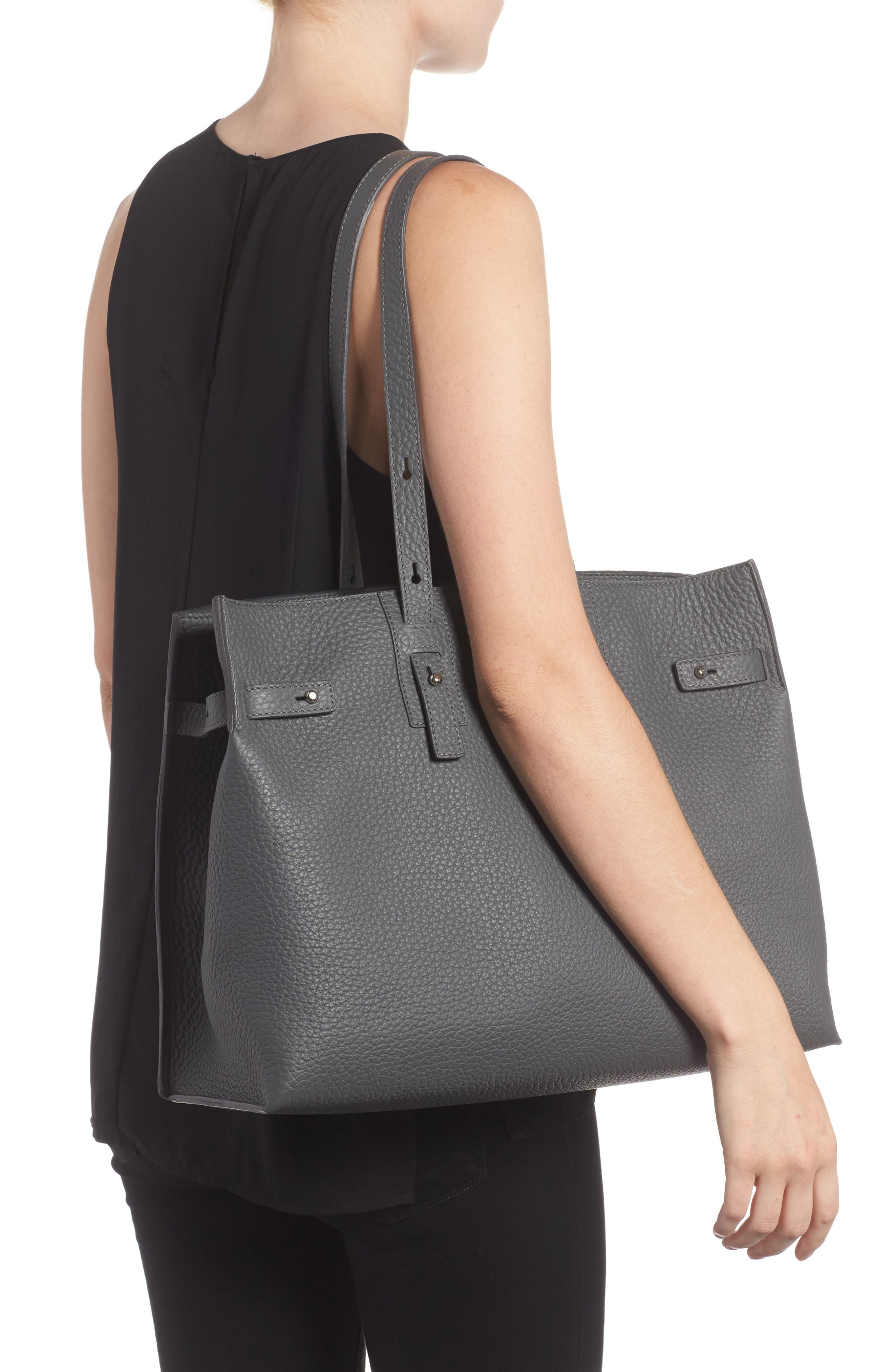 Petra Soft Calfskin Leather Tote,                             Alternate thumbnail 2, color,                             020