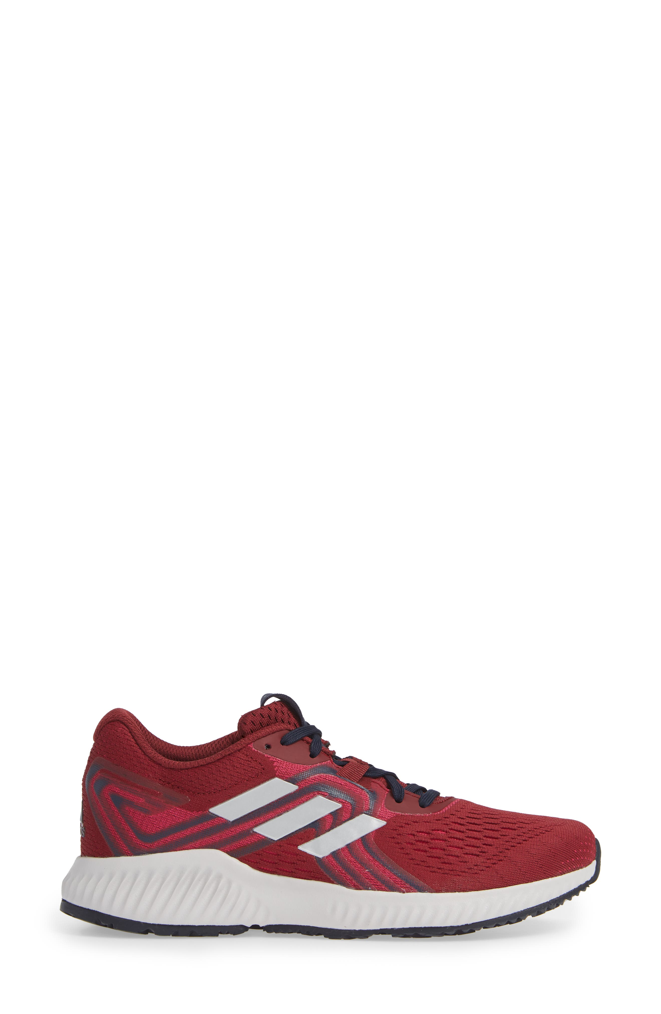 AeroBounce 2 Running Shoe,                             Alternate thumbnail 3, color,                             NOBLE MAROON/ SILVER/ MAGENTA