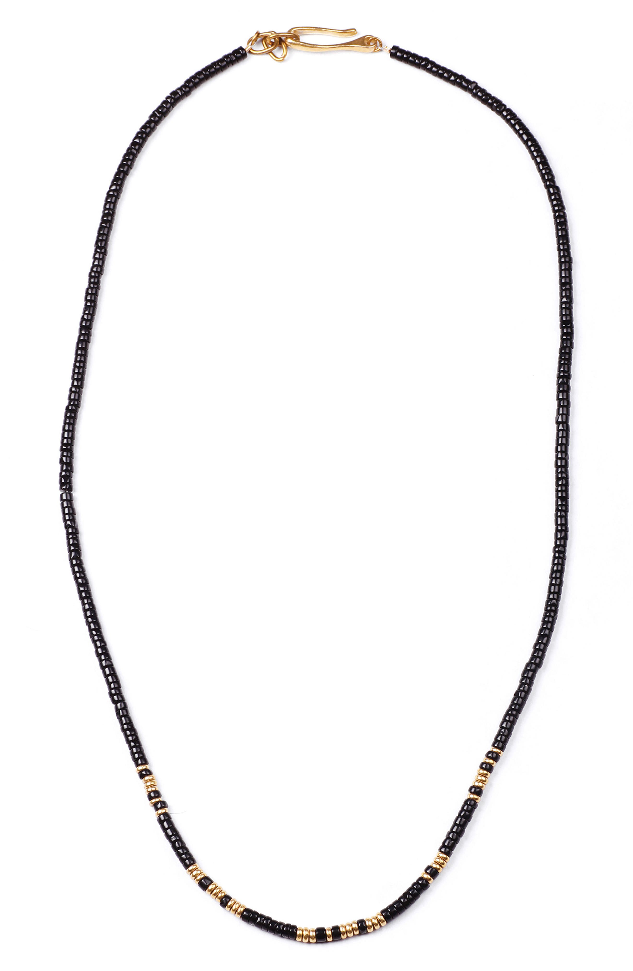 Loyal Morse Beaded Necklace,                             Main thumbnail 1, color,                             001