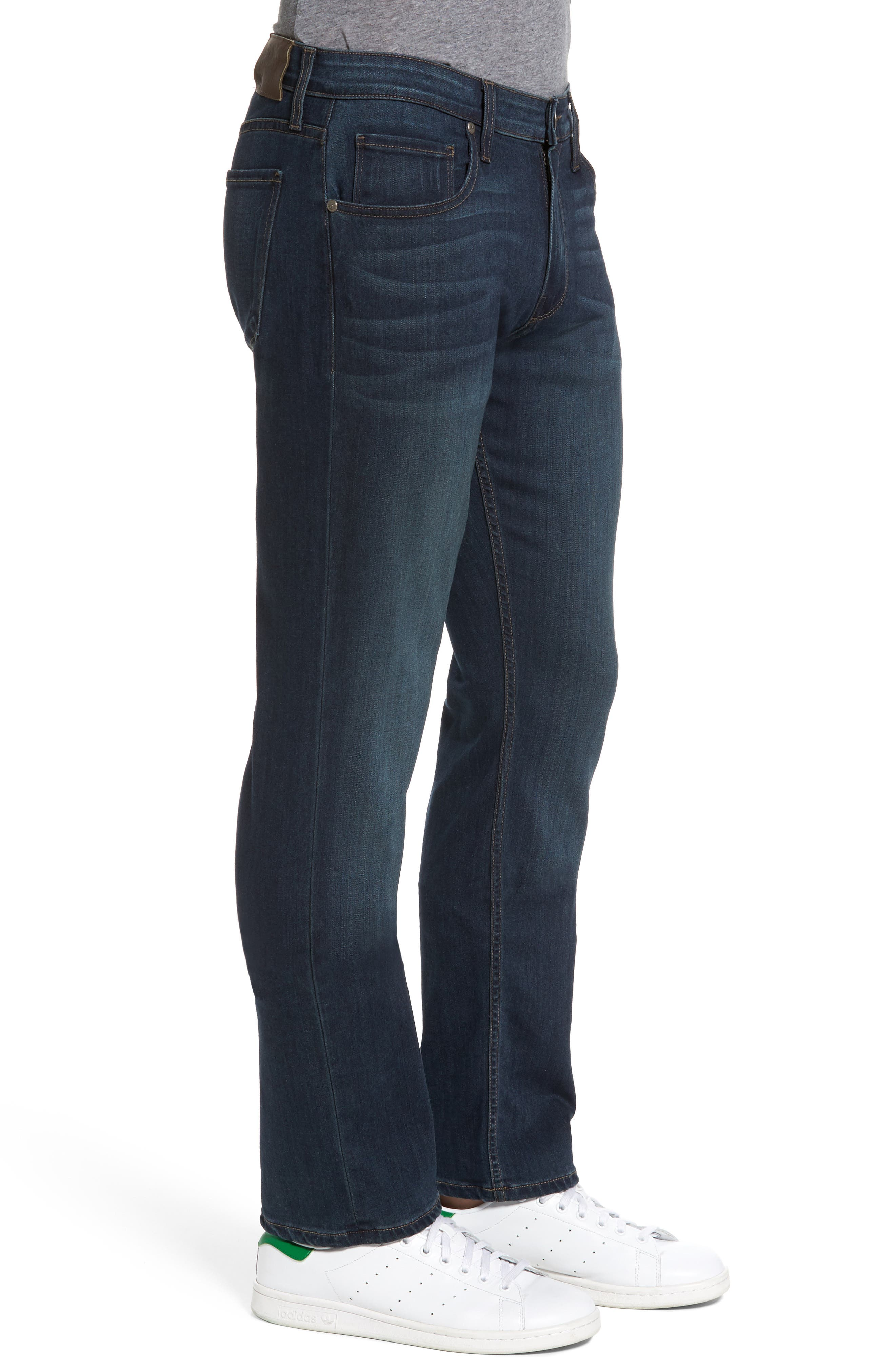 Normandie Straight Fit Jeans,                             Alternate thumbnail 3, color,                             400