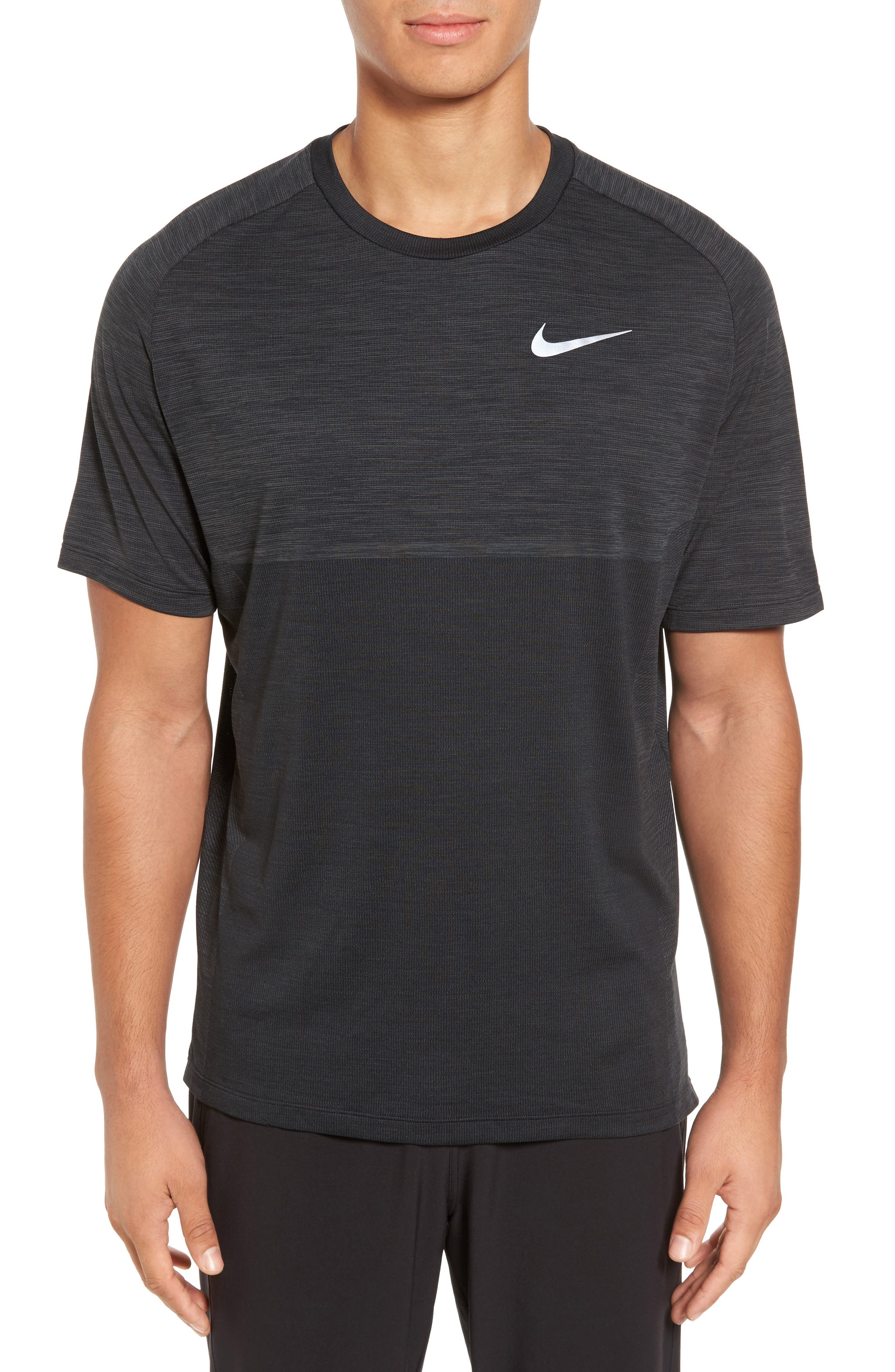 Dry Medalist Running Top,                             Main thumbnail 1, color,                             ANTHRACITE/ BLACK