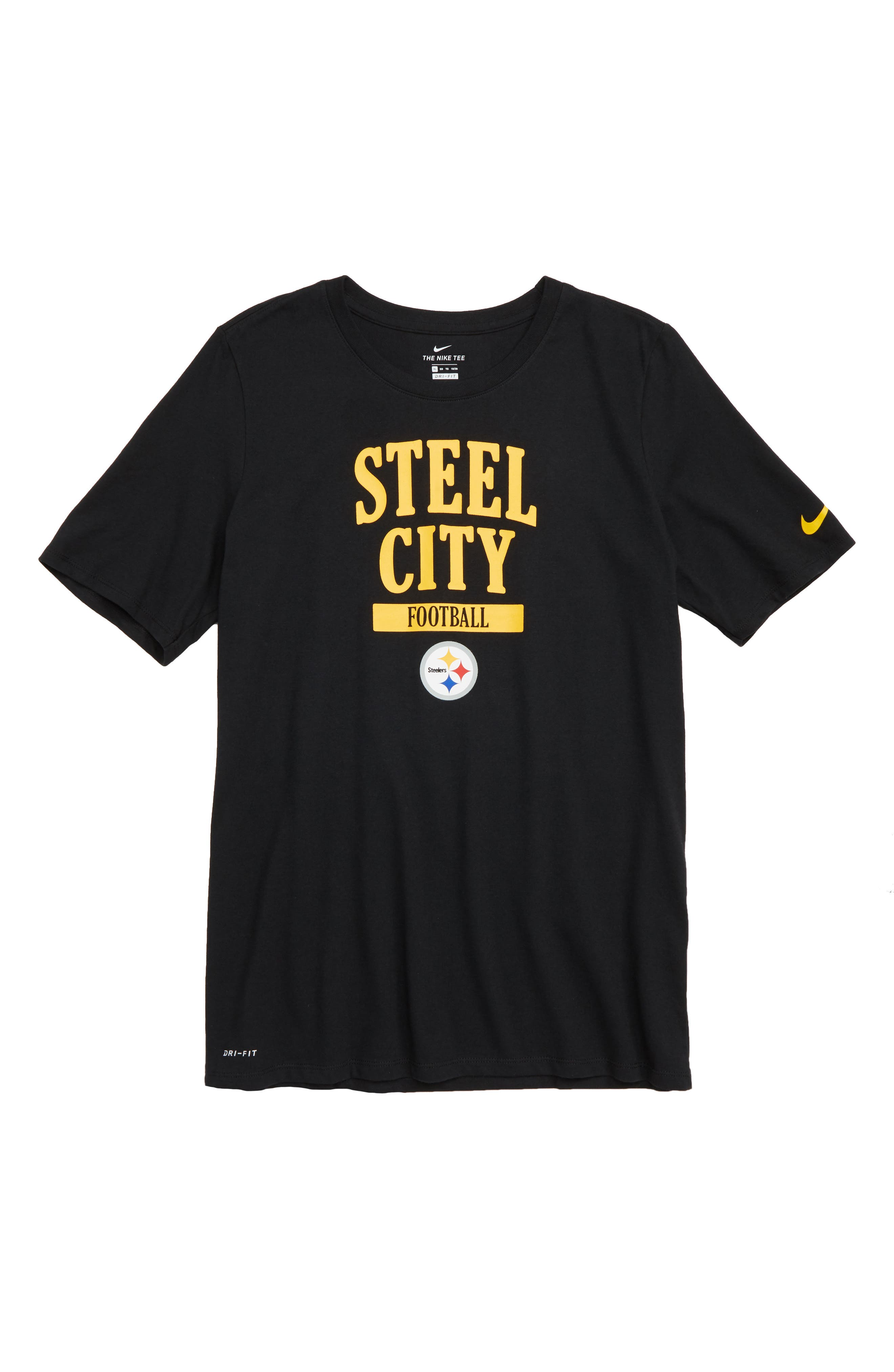 Dry Hyperlocal NFL Pittsburgh Steelers T-Shirt,                             Main thumbnail 1, color,                             BLACK