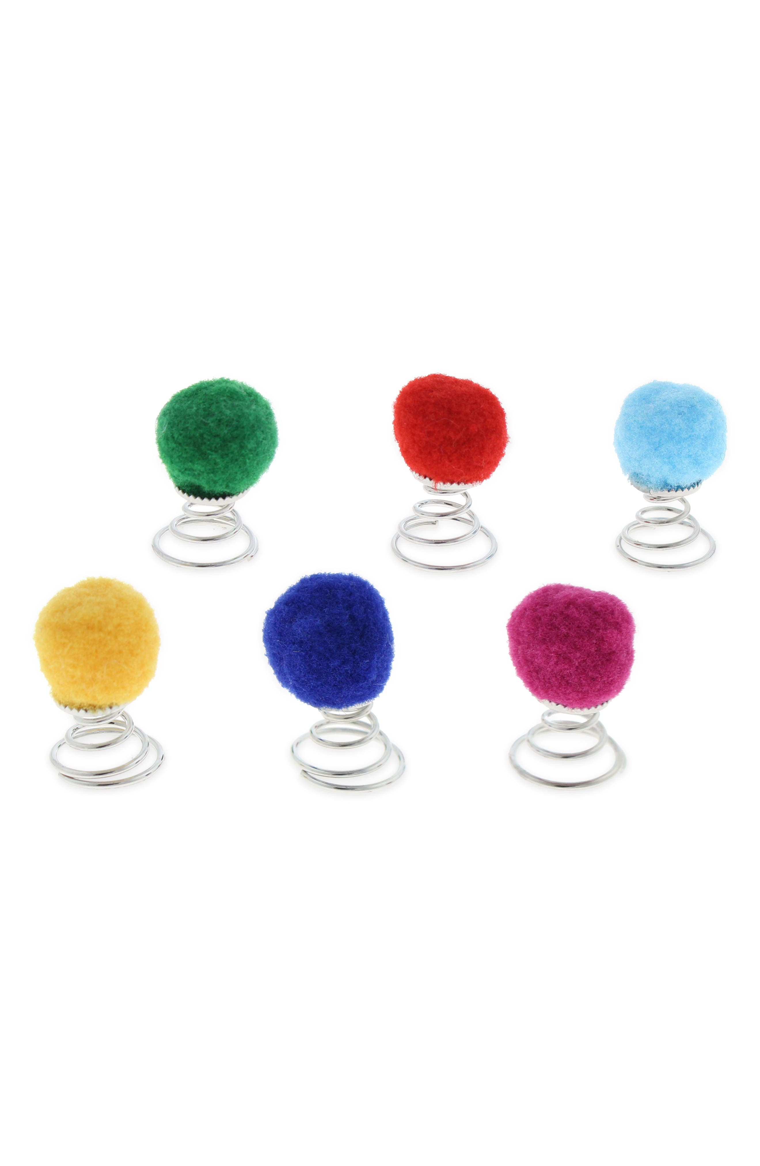 CAPELLI NEW YORK,                             6-Pack Pom Hair Clips,                             Main thumbnail 1, color,                             975