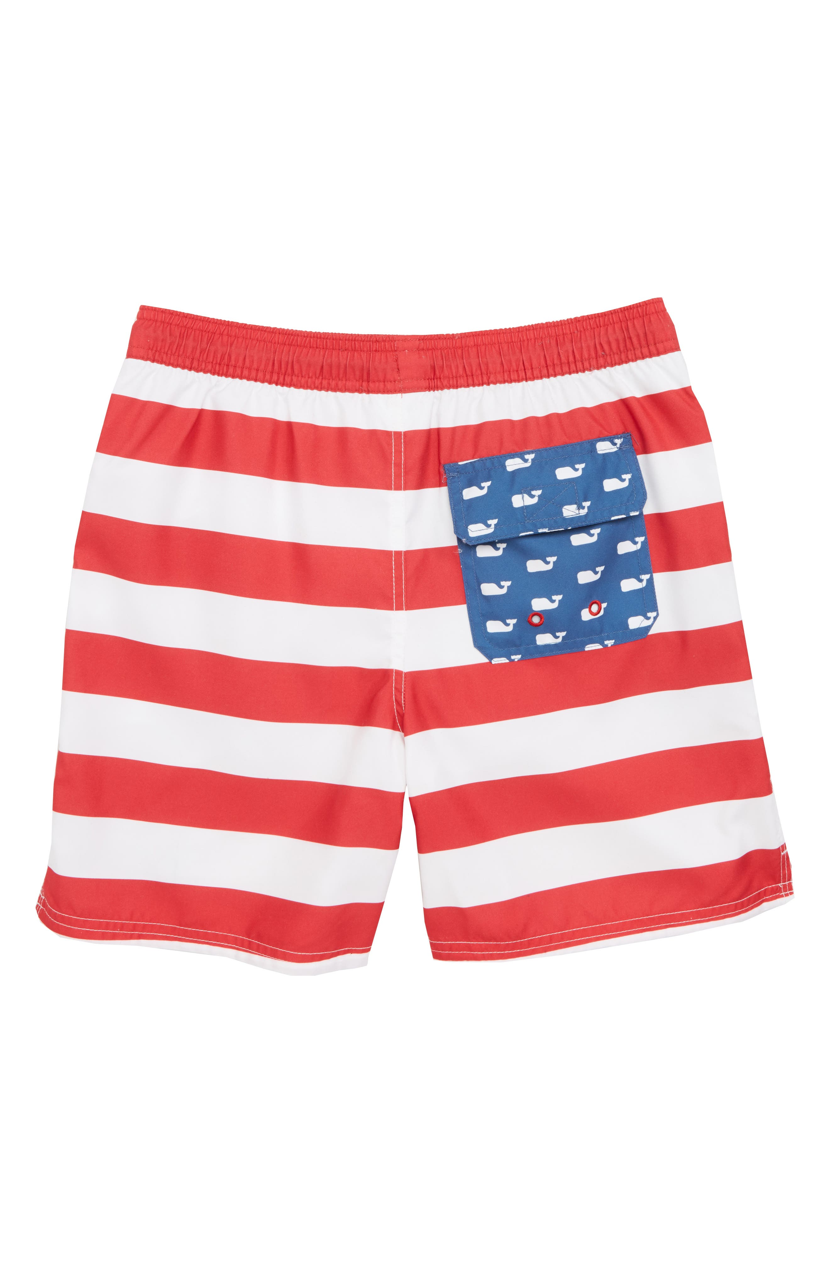 VINEYARD VINES,                             Chappy USA Flag Swim Trunks,                             Alternate thumbnail 2, color,                             461
