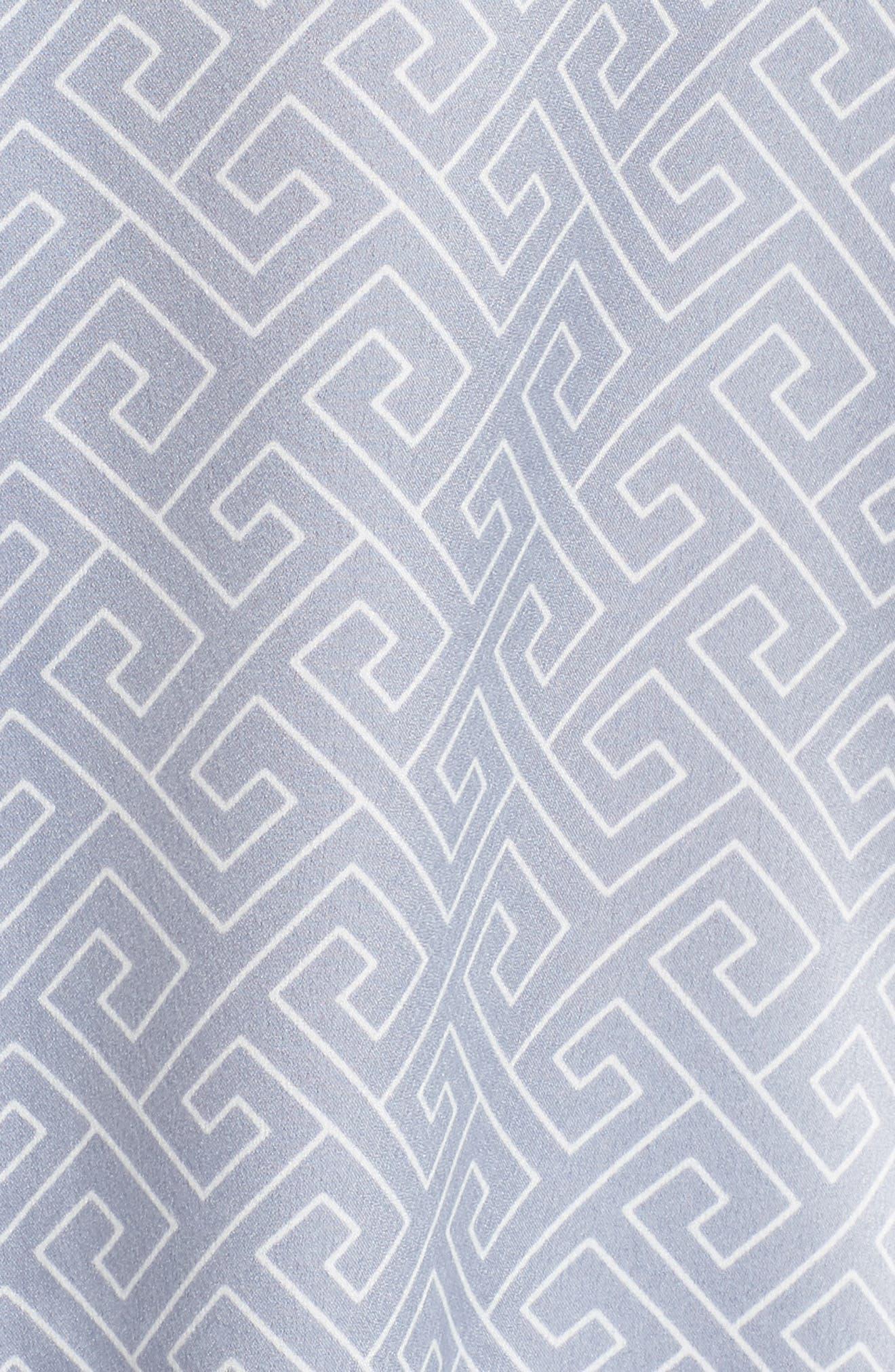 Labyrinth Satin Pajamas,                             Alternate thumbnail 5, color,                             SMOKY IRIS