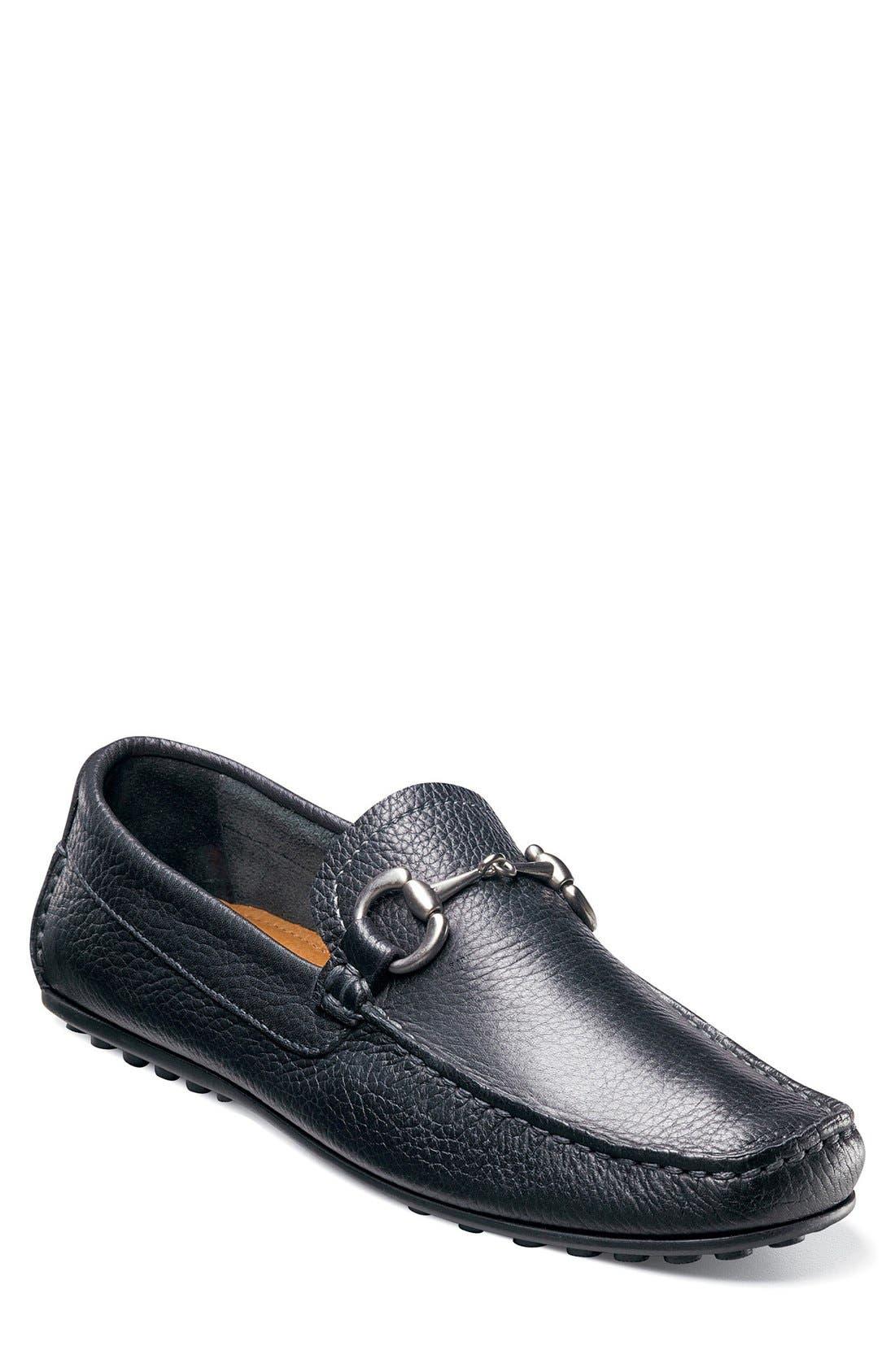 'Danforth' Driving Shoe,                             Main thumbnail 1, color,                             BLACK LEATHER