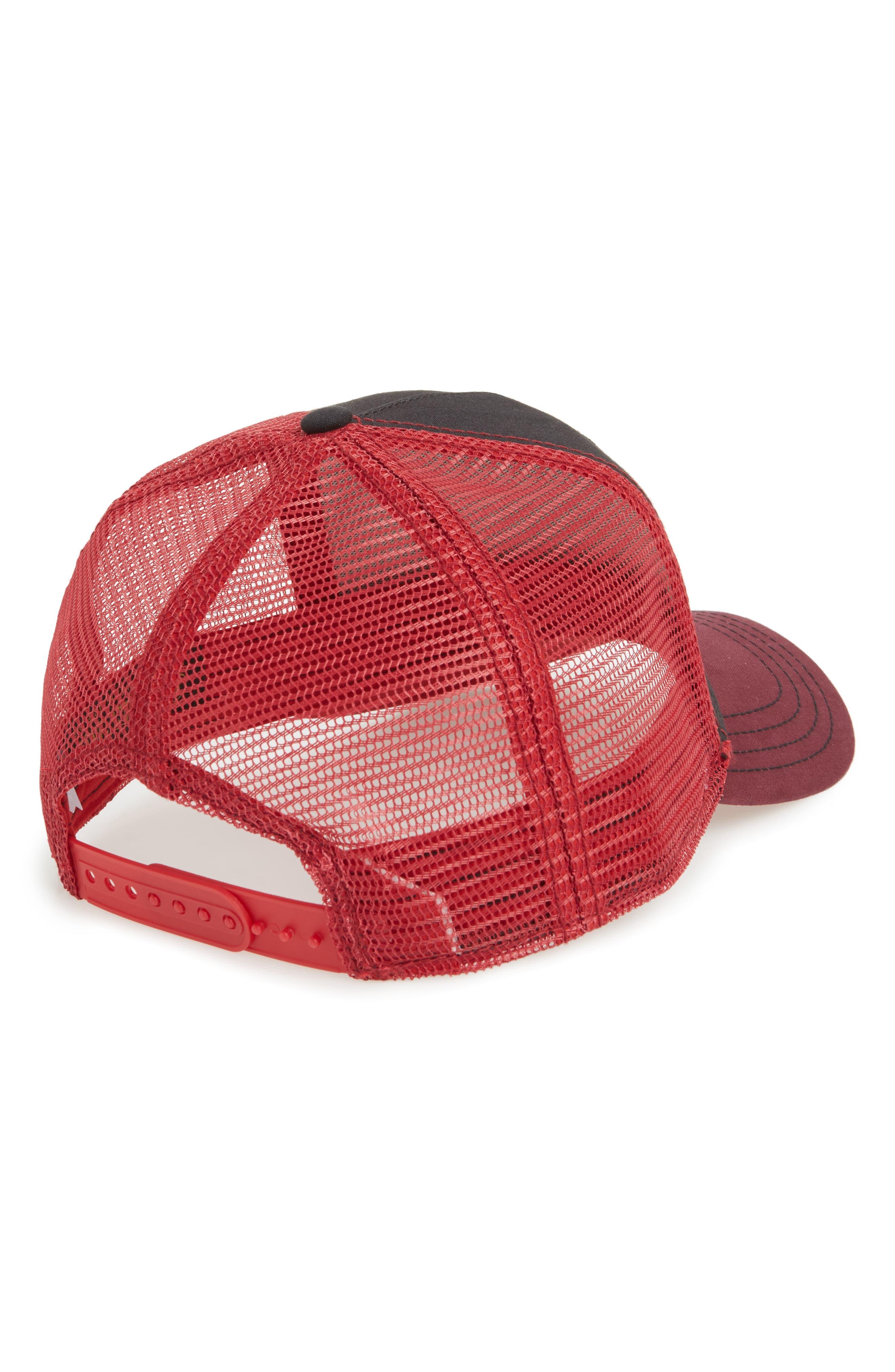 Barnyard King Trucker Hat,                             Alternate thumbnail 2, color,                             BLACK