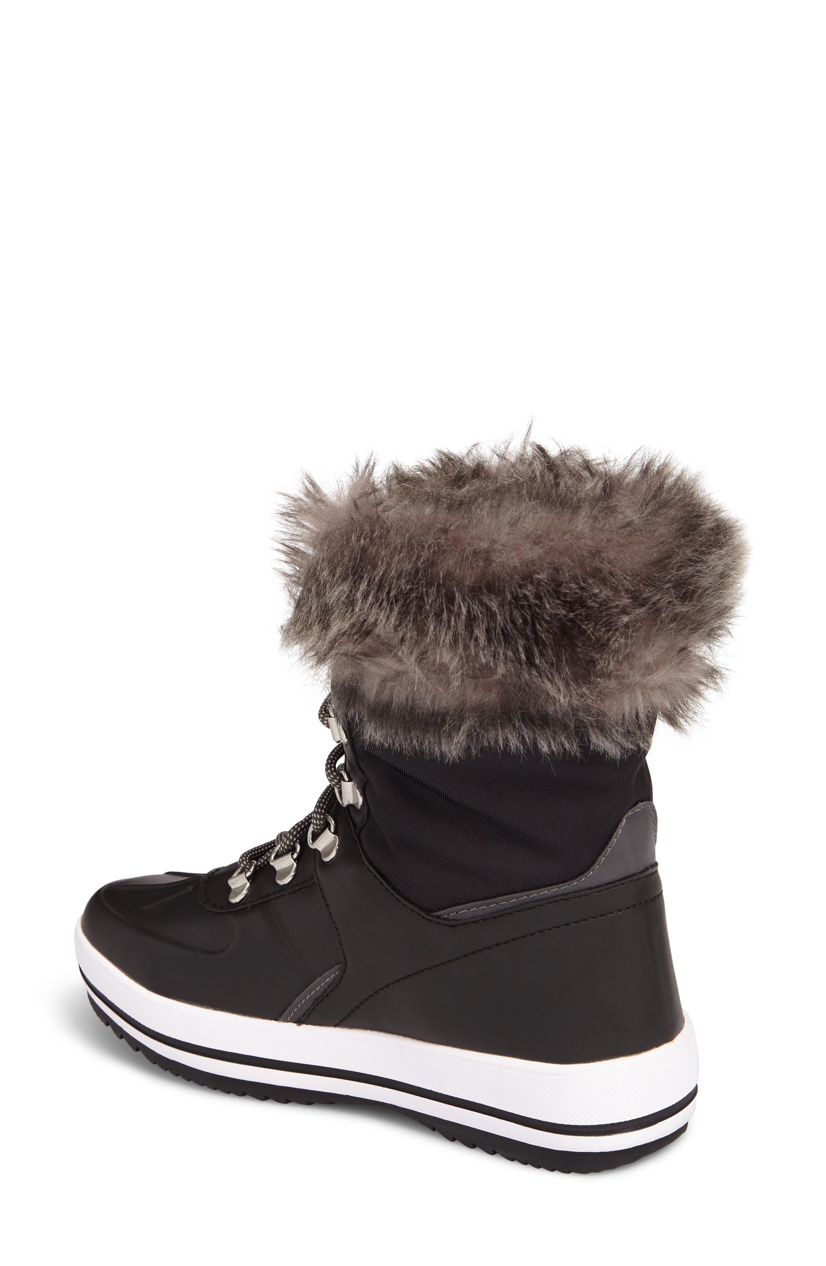 Viper Waterproof Snow Boot with Faux Fur Trim,                             Alternate thumbnail 2, color,                             BLACK