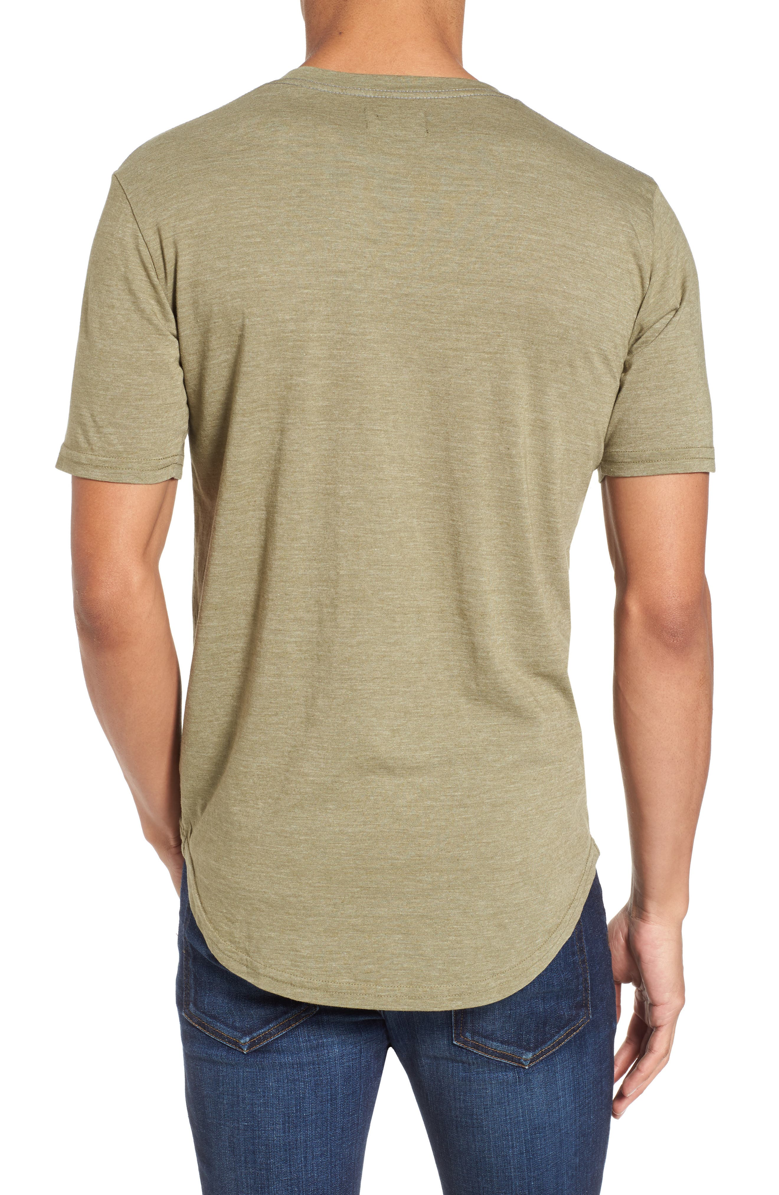 Scallop Triblend V-Neck T-Shirt,                             Alternate thumbnail 26, color,