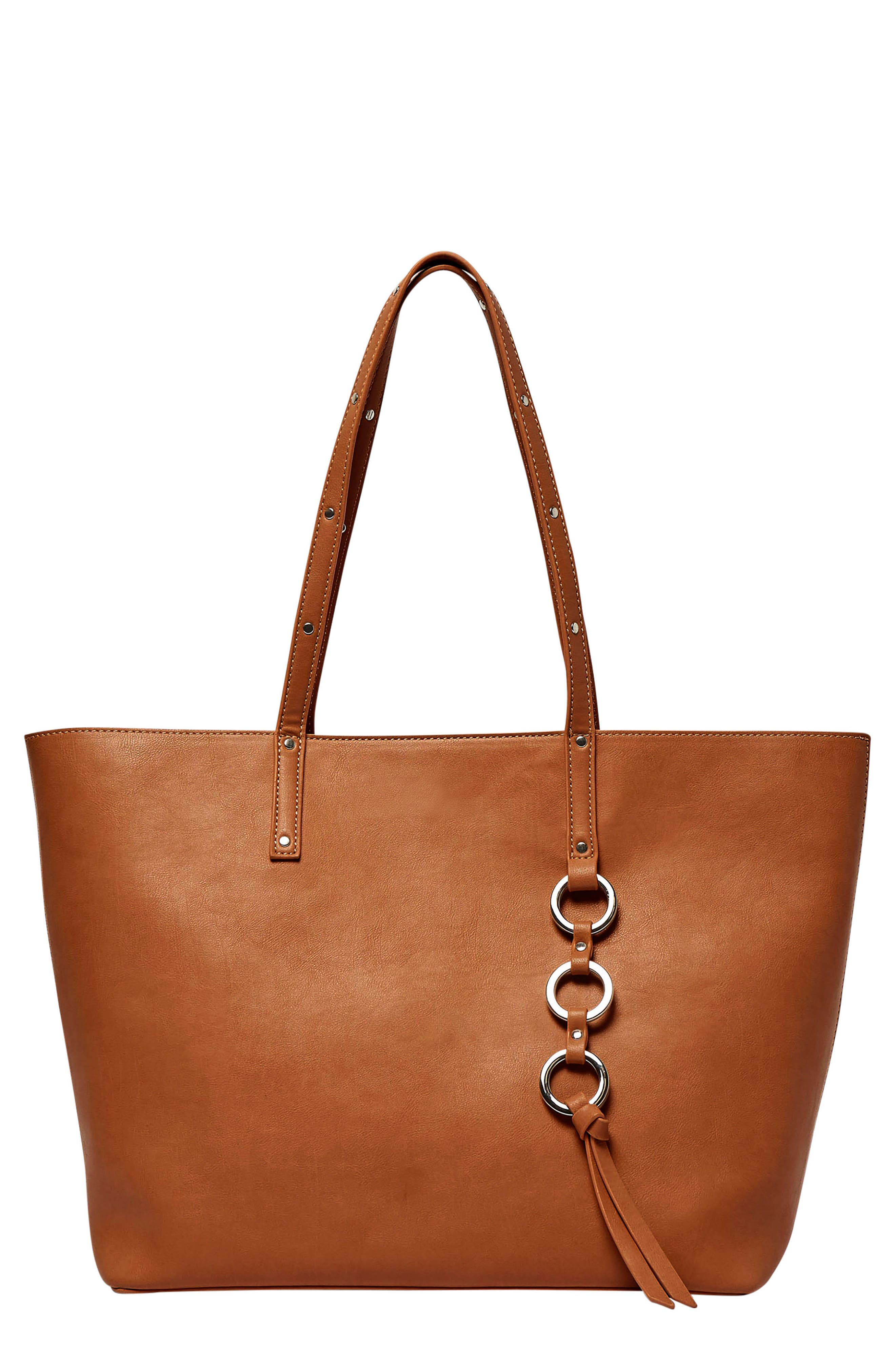Wild Fire Vegan Leather Tote,                             Main thumbnail 1, color,