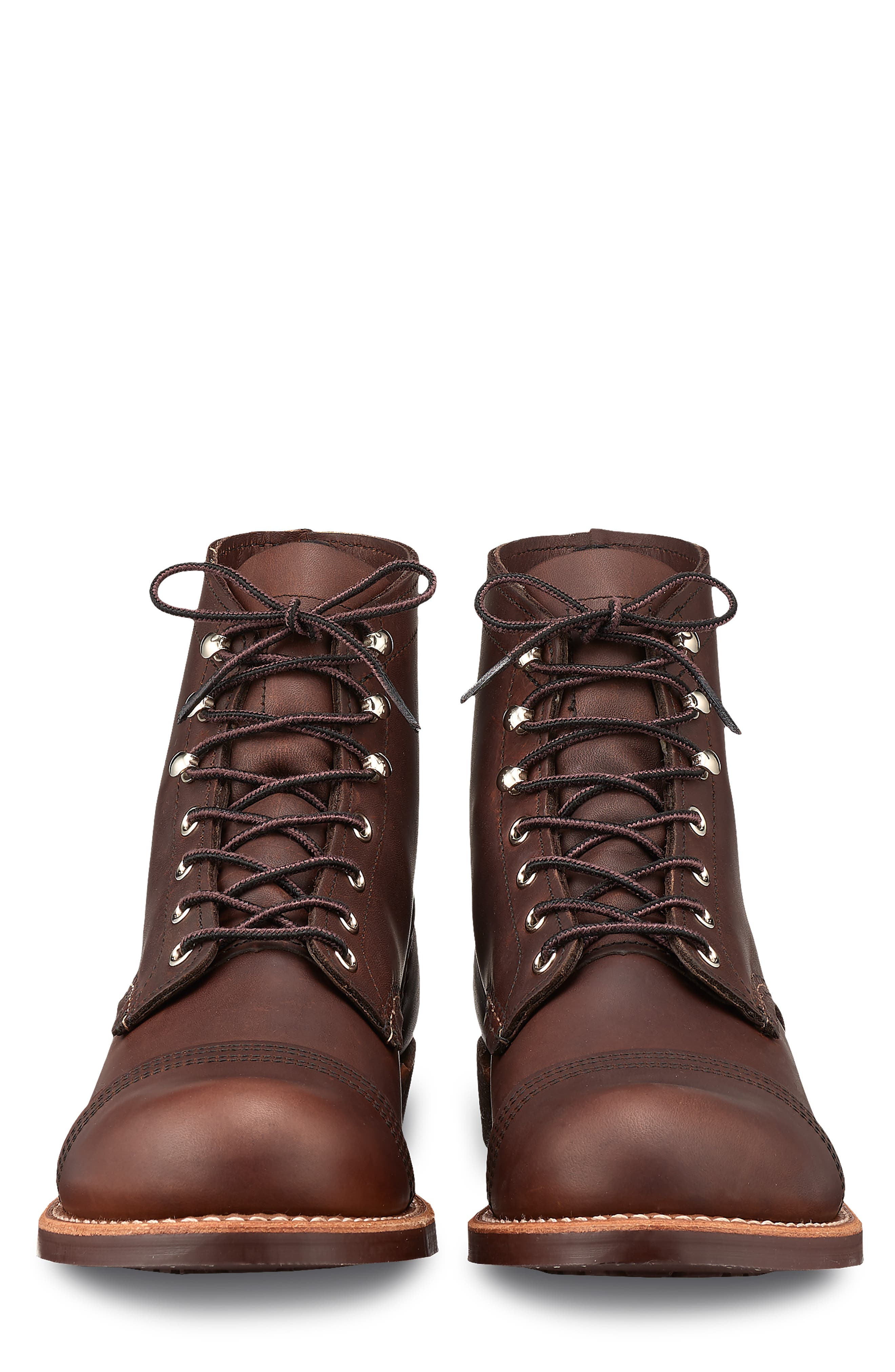 'Iron Ranger' 6 Inch Boot,                             Alternate thumbnail 3, color,                             AMBER HARNESS LEATHER