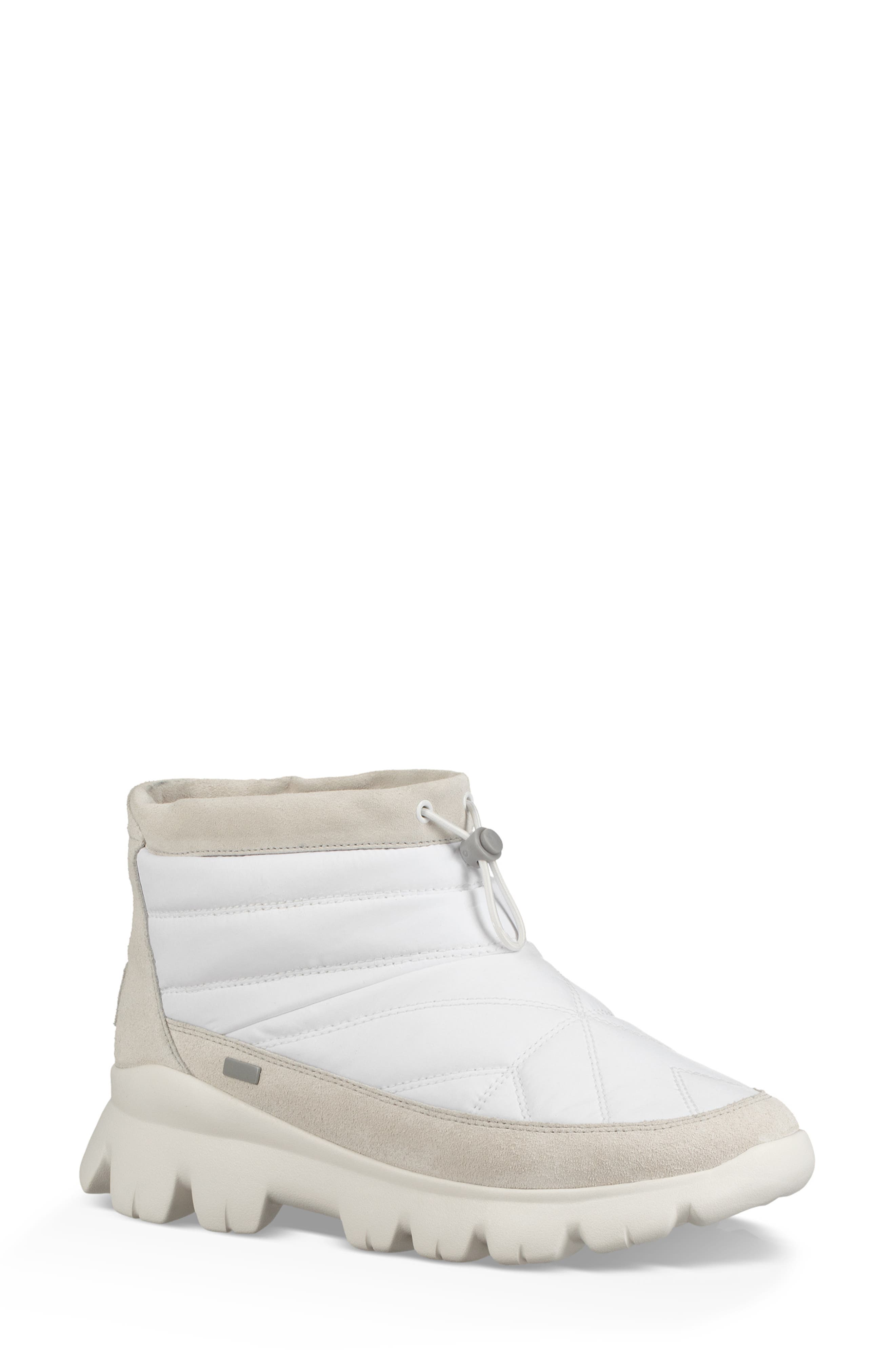 Ugg Centara Water Resistant Quilted Bootie- White