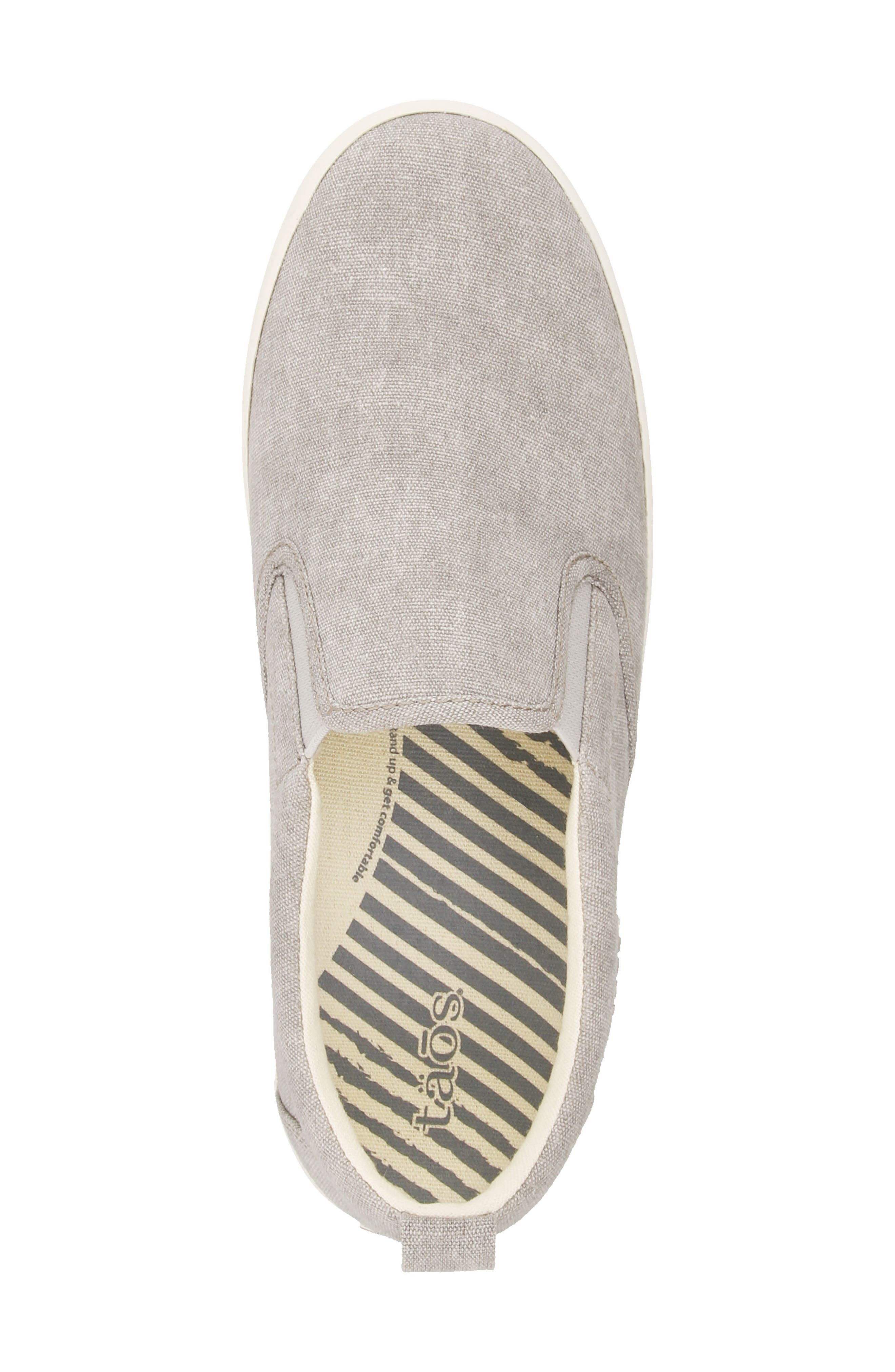 Dandy Slip-On Sneaker,                             Alternate thumbnail 4, color,                             GREY WASHED CANVAS