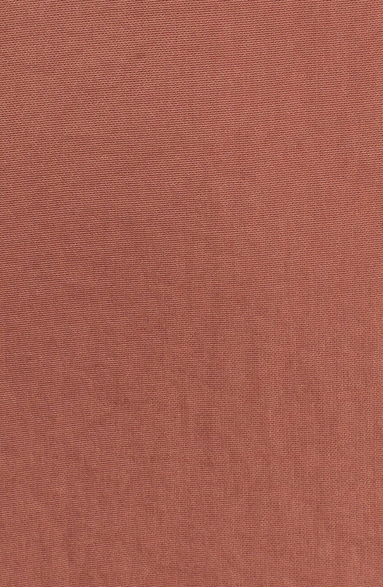 Ali Ruffle Trim Satin A-Line Midi Dress,                             Alternate thumbnail 5, color,                             250