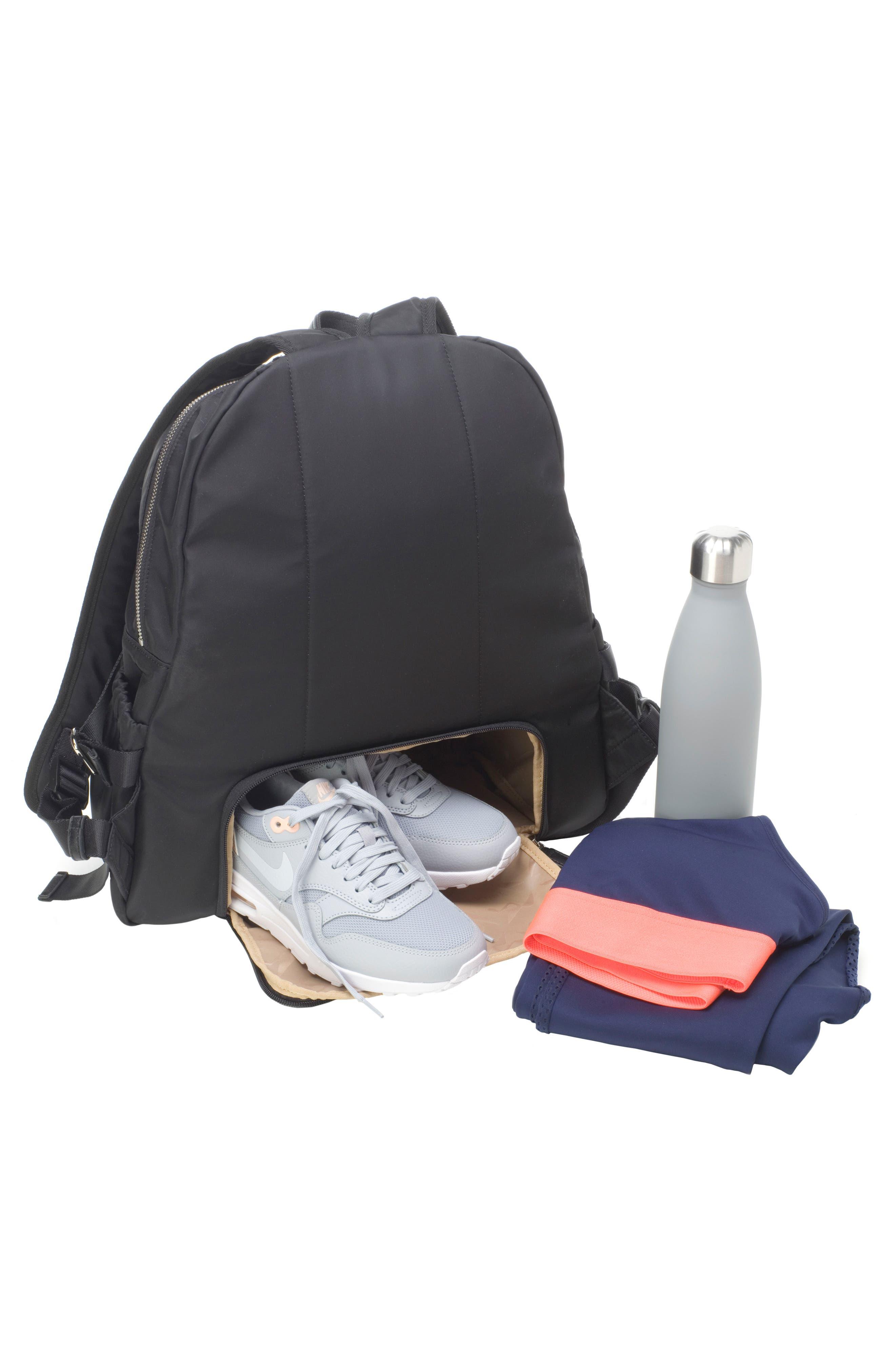 Hero Water Resistant Nylon Backpack Diaper Bag,                             Alternate thumbnail 16, color,                             BLACK