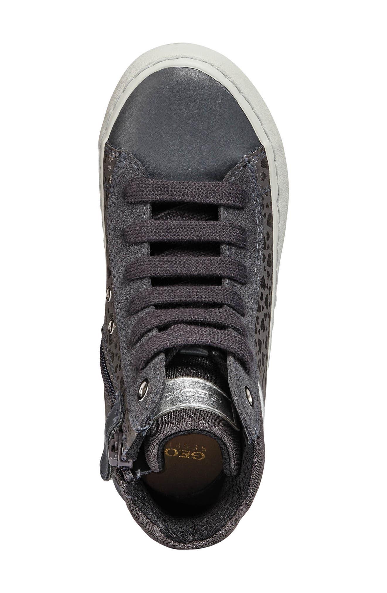 Kalispera High Top Sneaker,                             Alternate thumbnail 4, color,                             DARK GREY