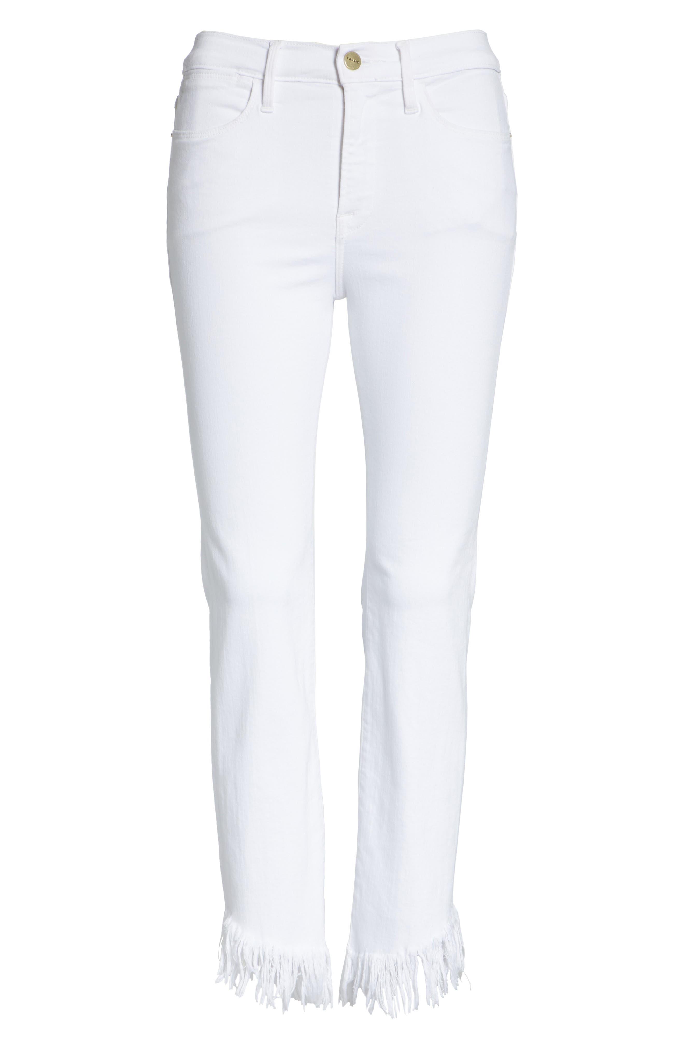 Le High Shredded Straight Leg Jeans,                             Alternate thumbnail 6, color,                             199