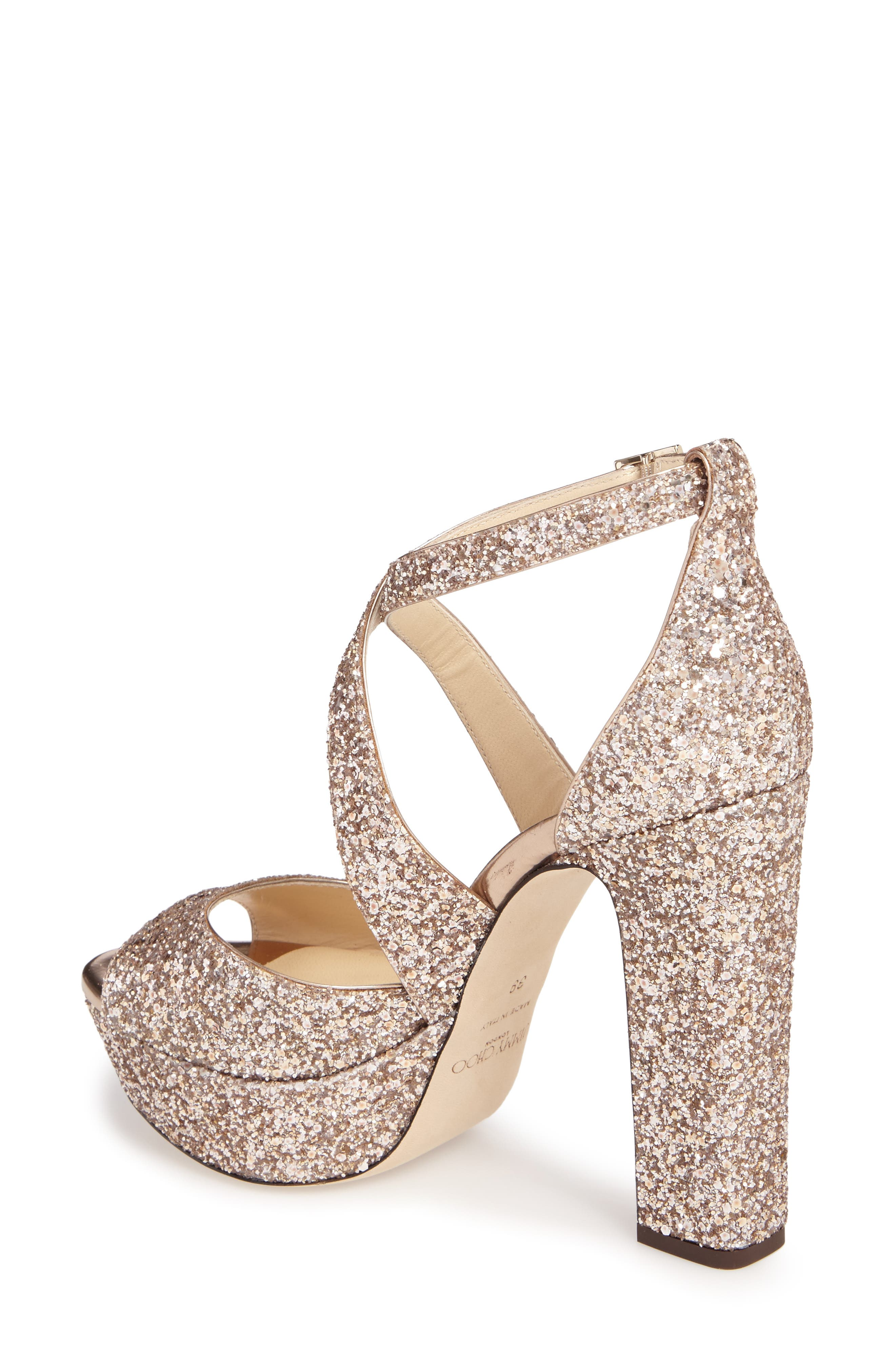 April Glitter Platform Sandal,                             Alternate thumbnail 2, color,                             650