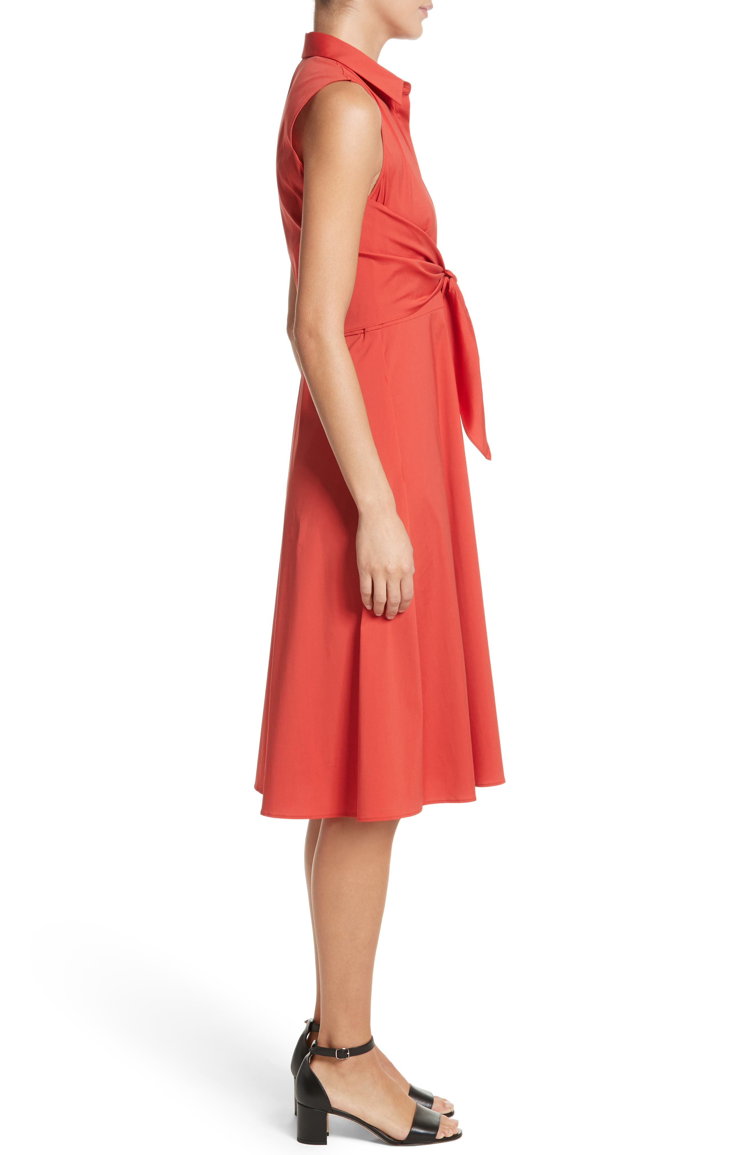 Mariel Knotted Shirtdress,                             Alternate thumbnail 3, color,