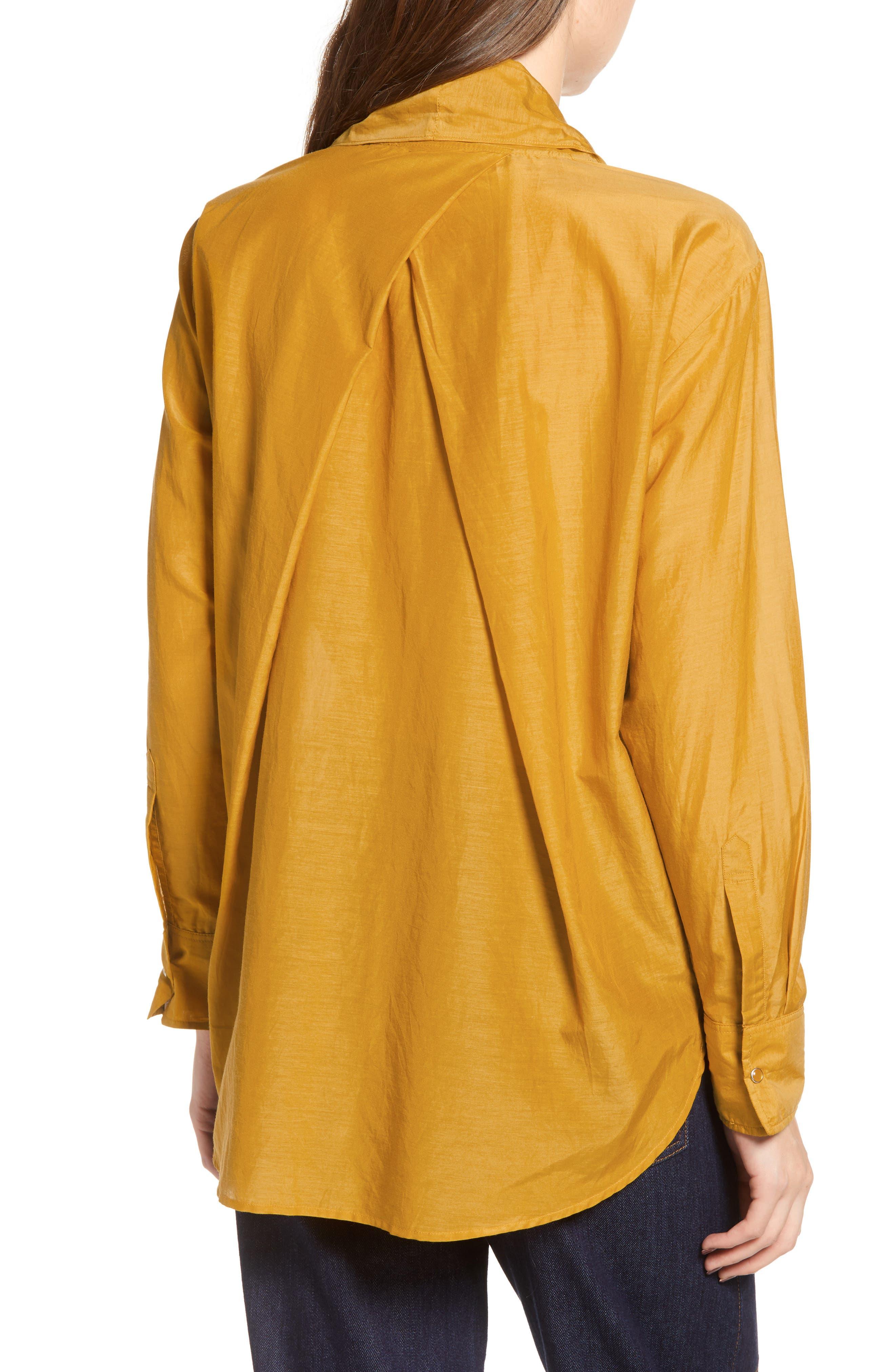 Cotton Silk Bow Tie Blouse,                             Alternate thumbnail 2, color,                             720